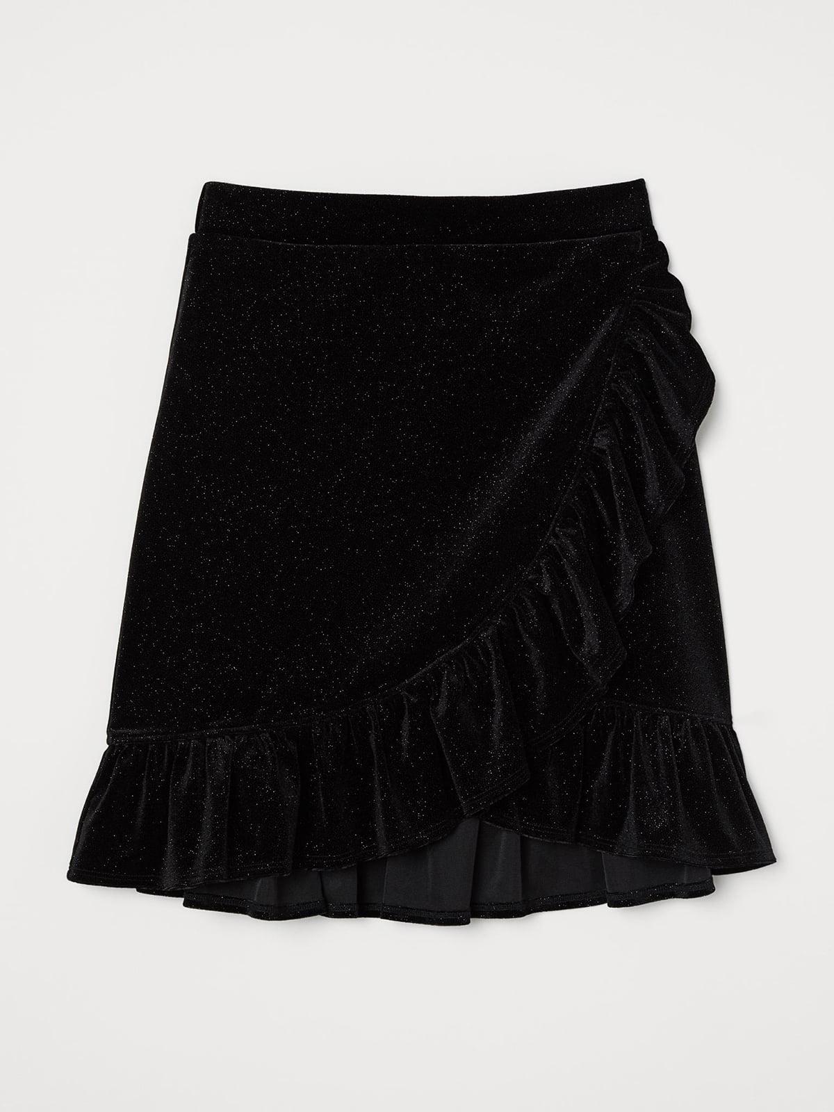 Юбка черная с декором | 5618494