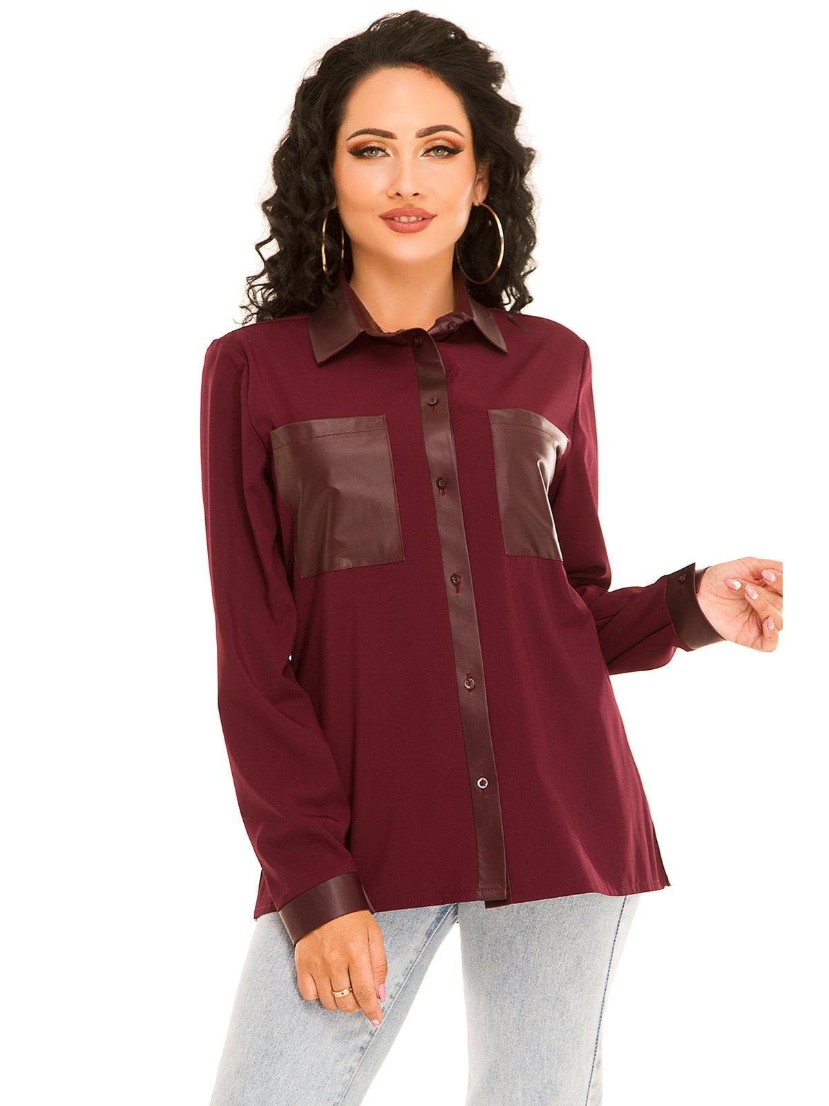 Рубашка сливового цвета   5181236