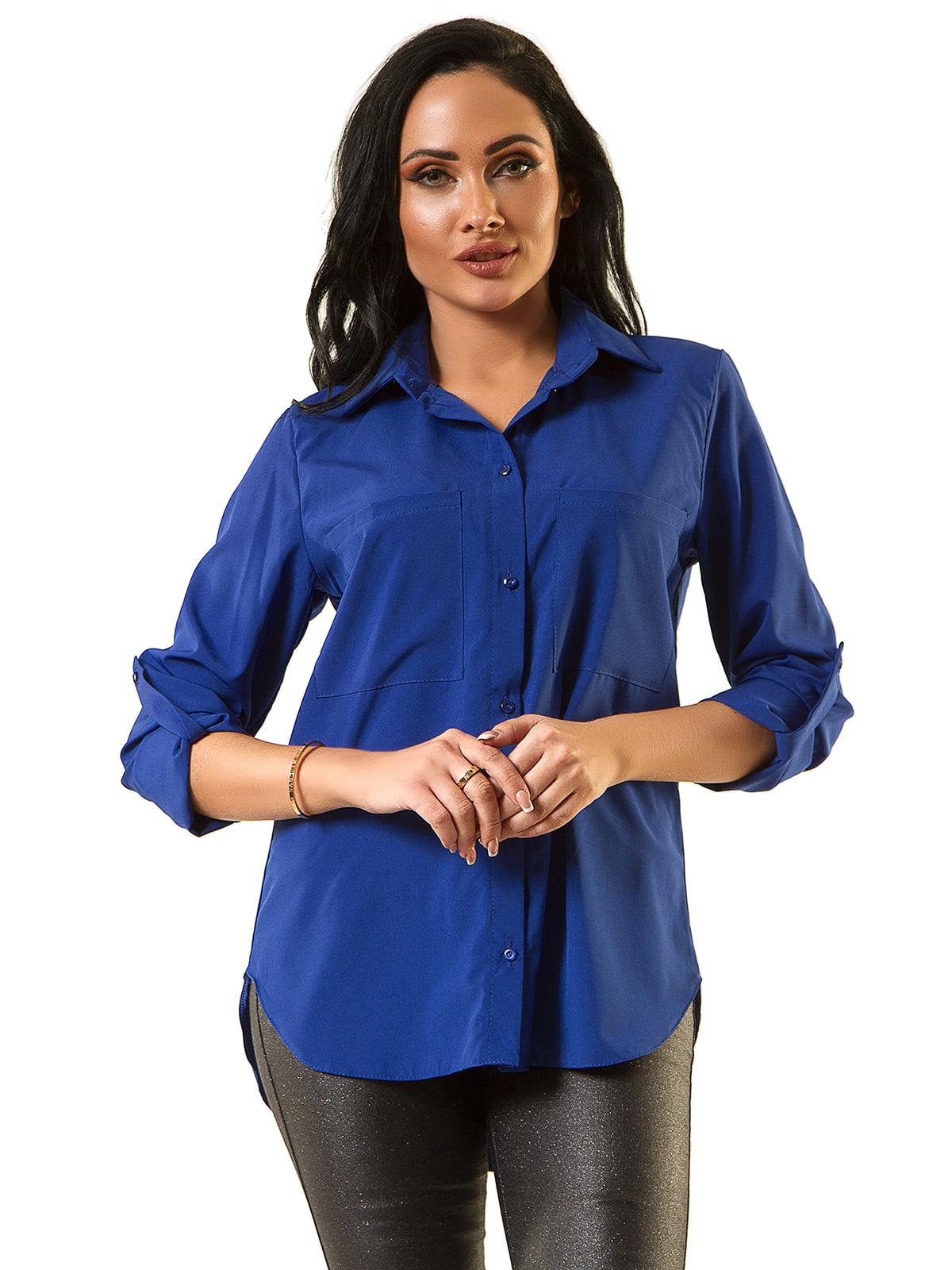 Блуза кольору електрик | 5363613