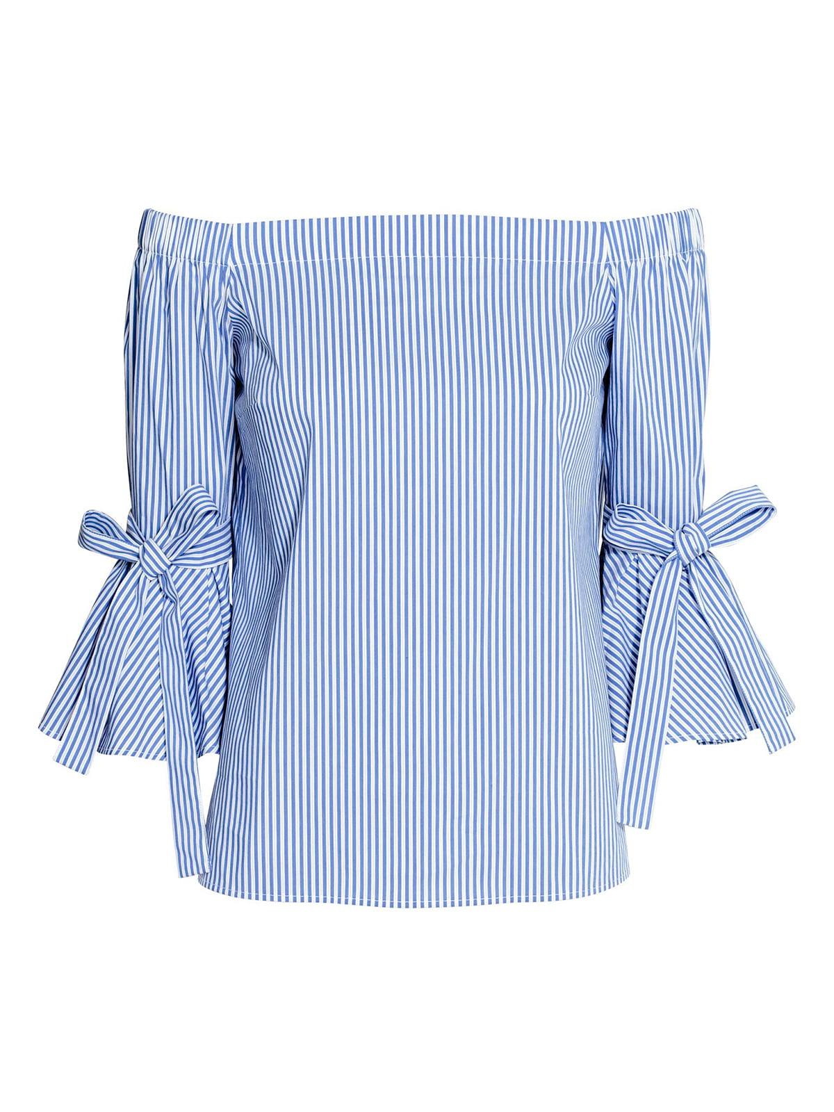 Блуза синя в смужку | 5620015