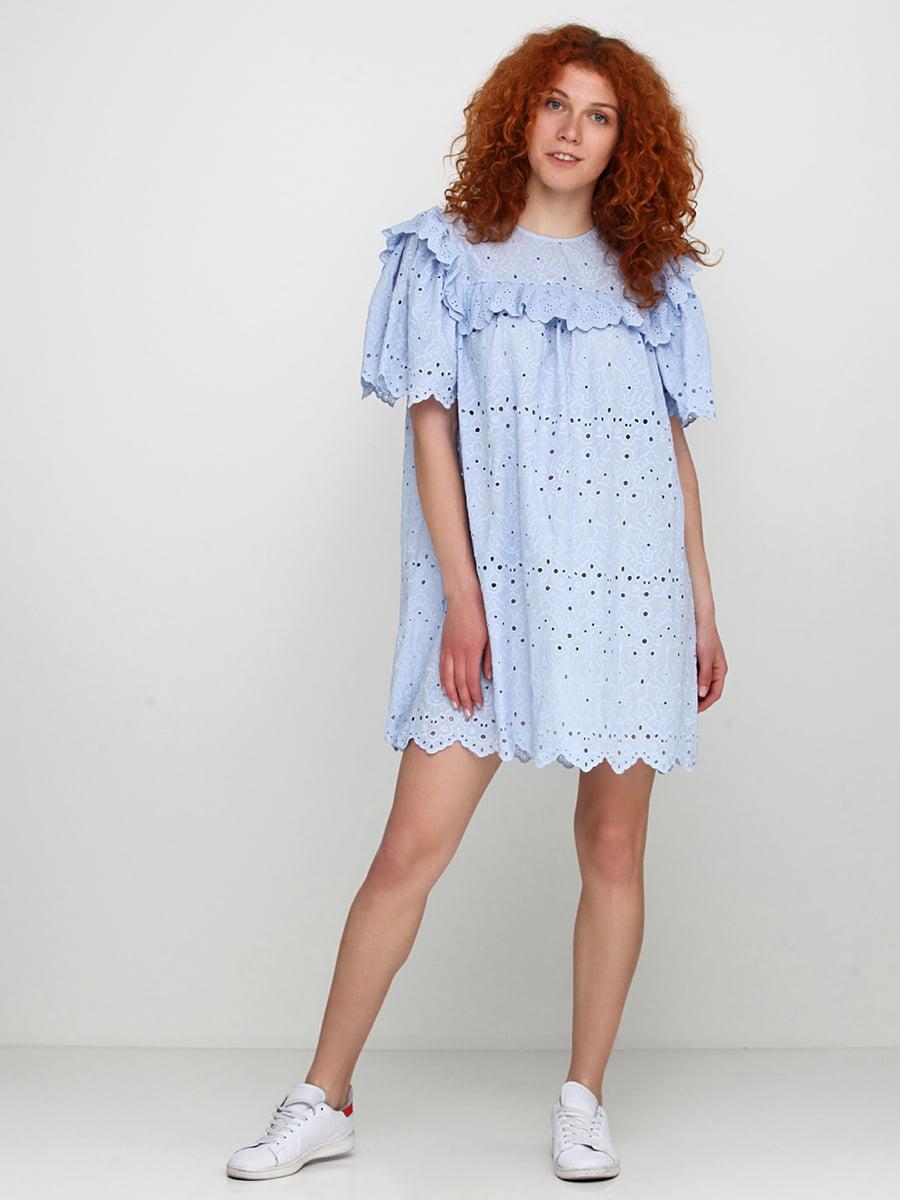 Сукня блакитна з вишивкою | 5620072