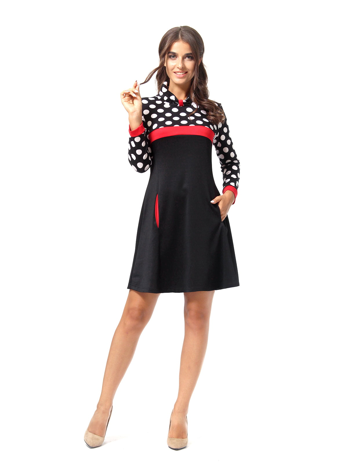 Сукня триколірна в горошок | 5620684