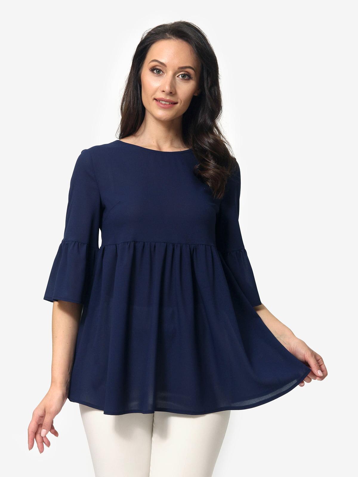Блуза синяя   5621174