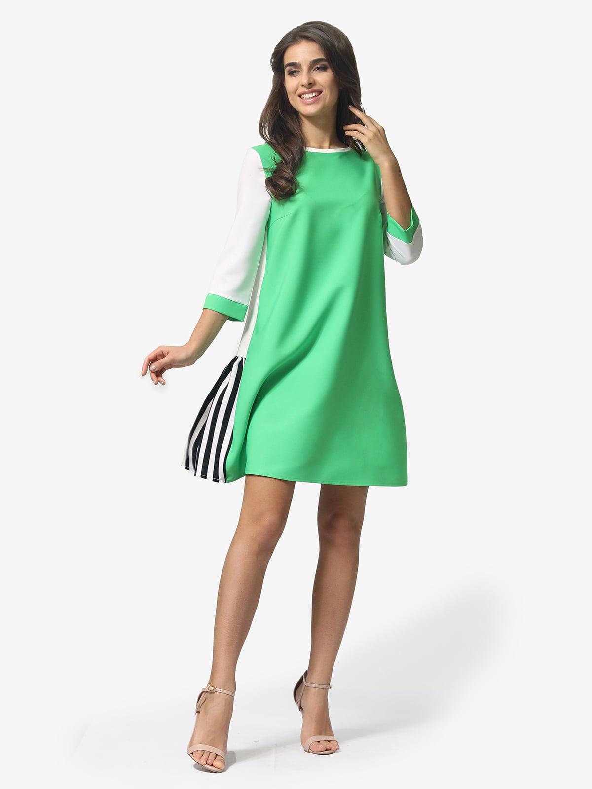 Сукня триколірна в смужку | 5621342