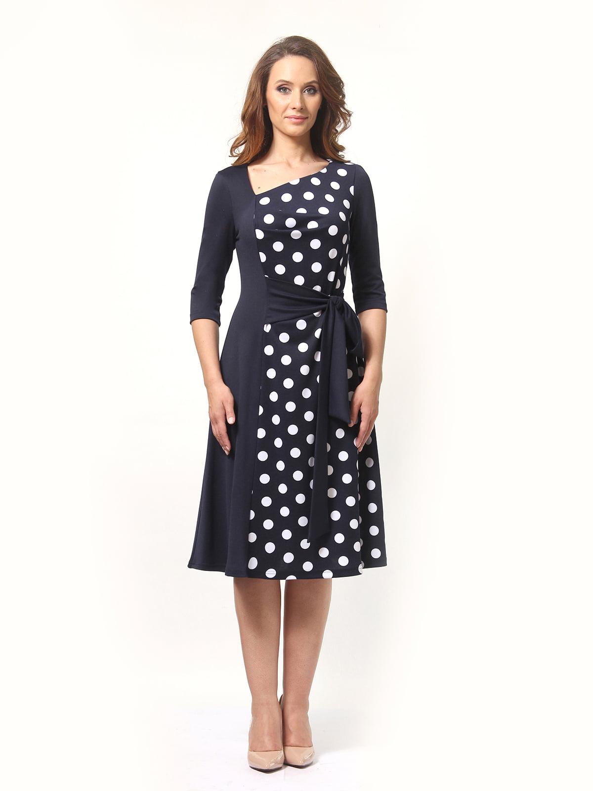 Сукня синя в горошок | 5621473