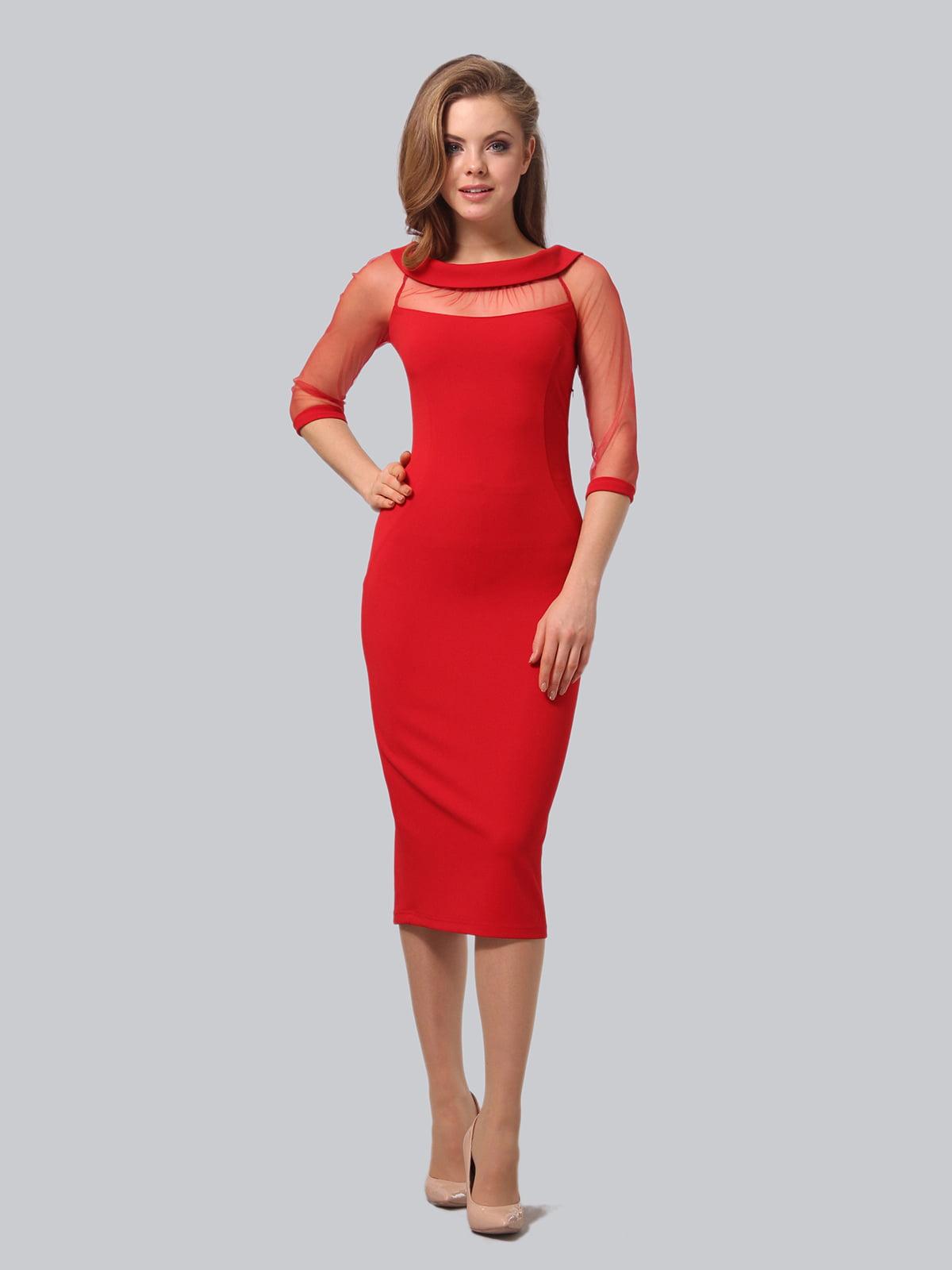 Платье красного цвета   5620924