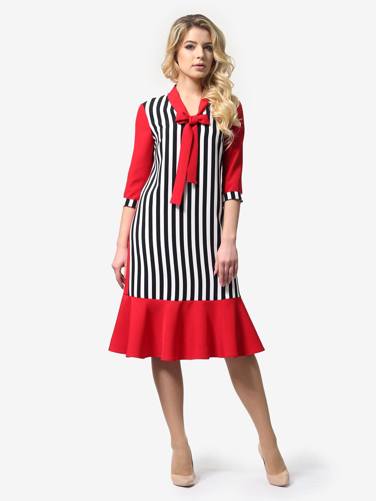 Платье трехцветное в полоску | 5620965