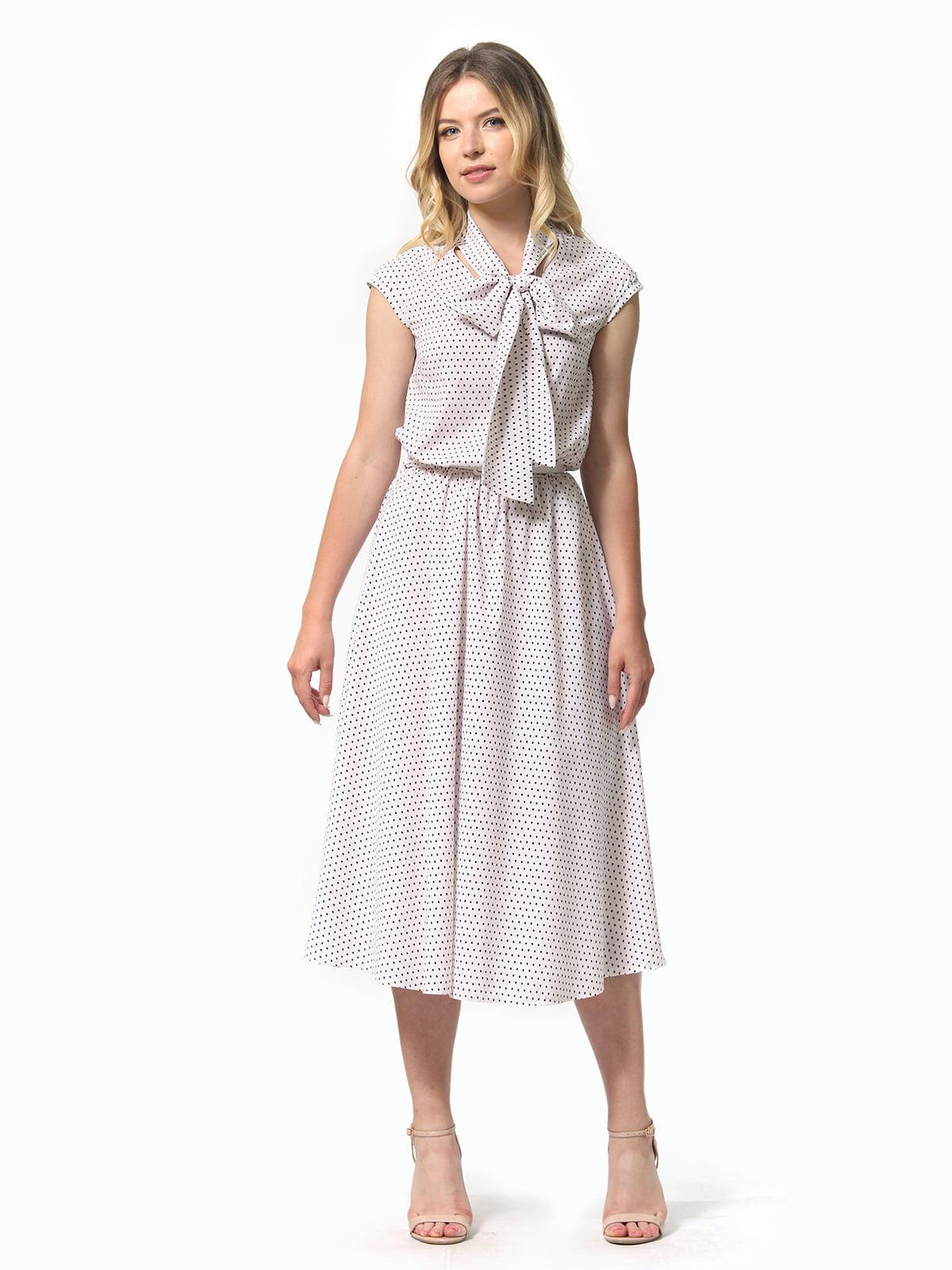 Платье белое в горошек | 5621078