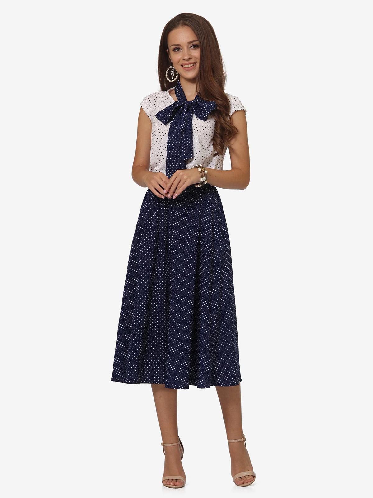 Платье двухцветное в крапинку | 5621079