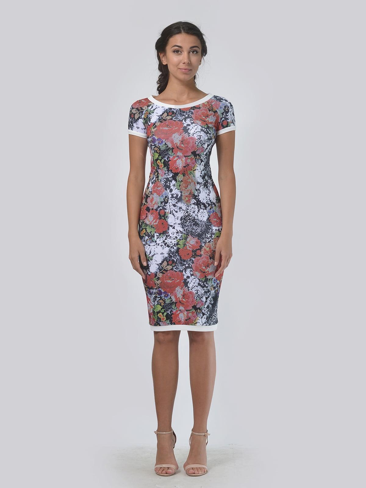Платье в цветочный принт | 5621494