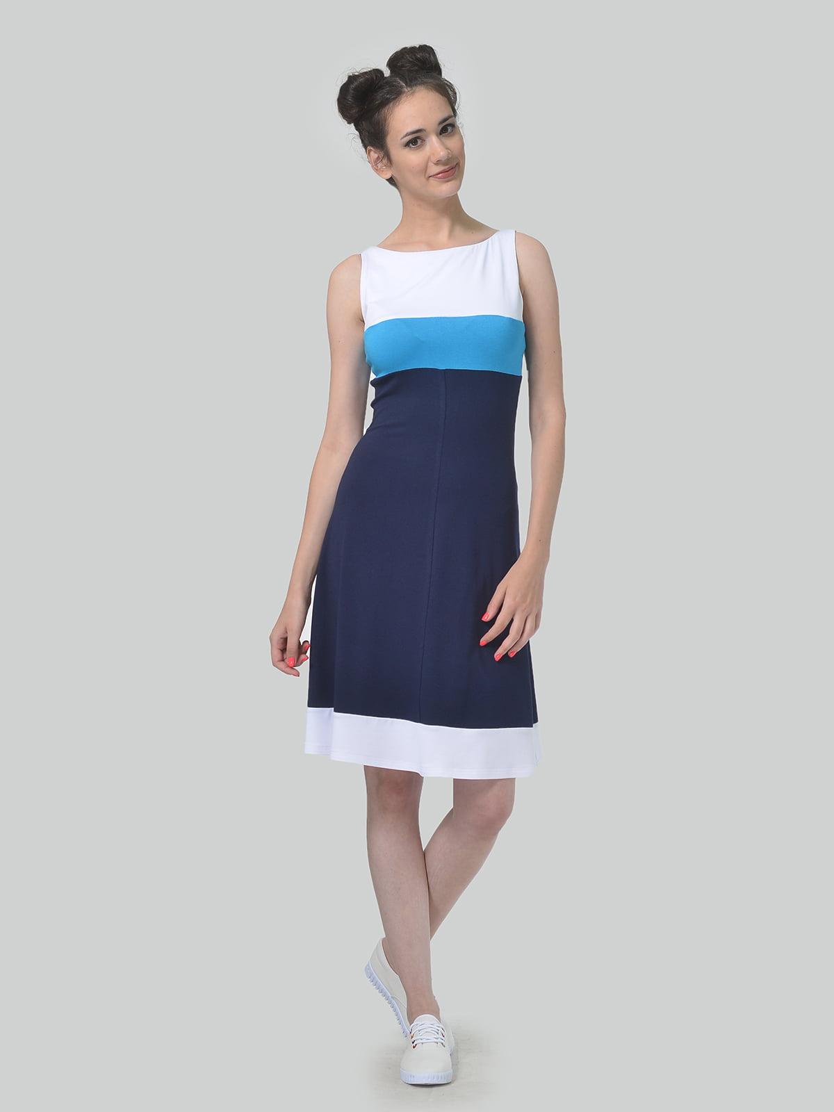 Сукня триколірна в смужку | 5621285