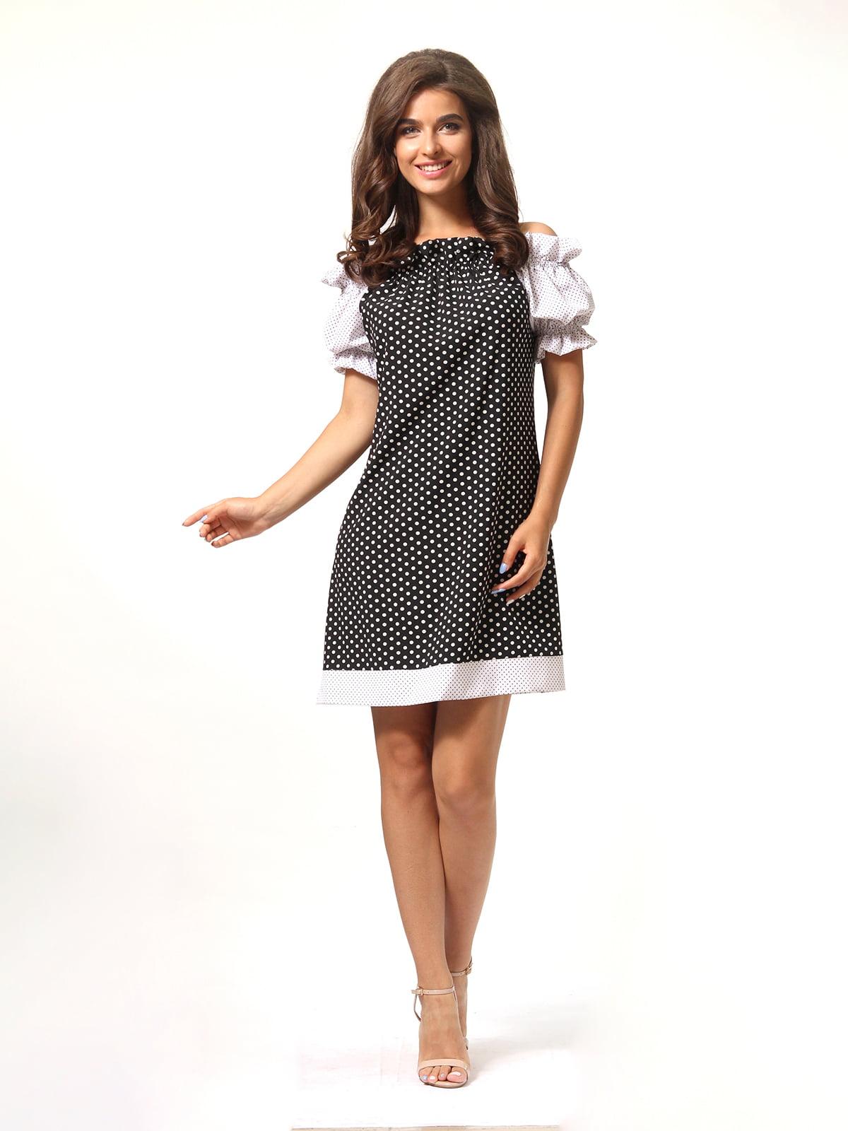 Сукня двокольорова в горошок   5621312