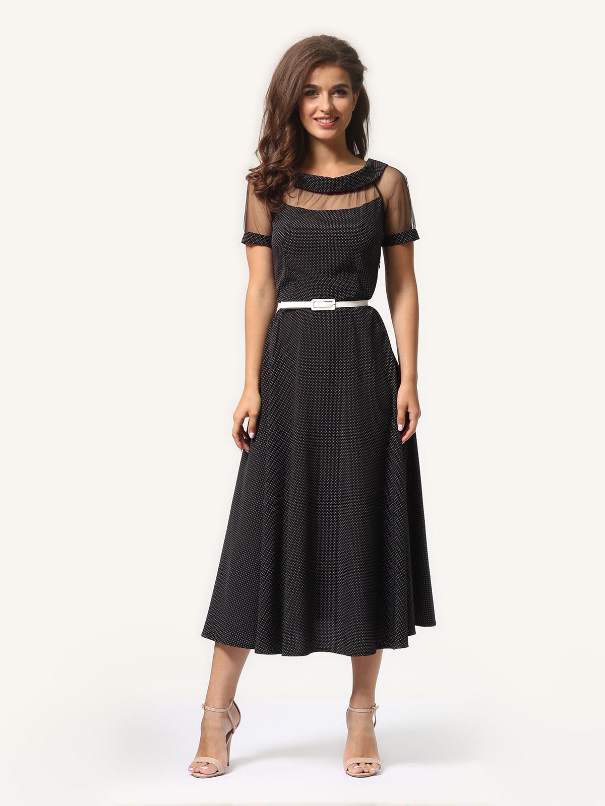 Сукня чорна в цяточку | 5621324