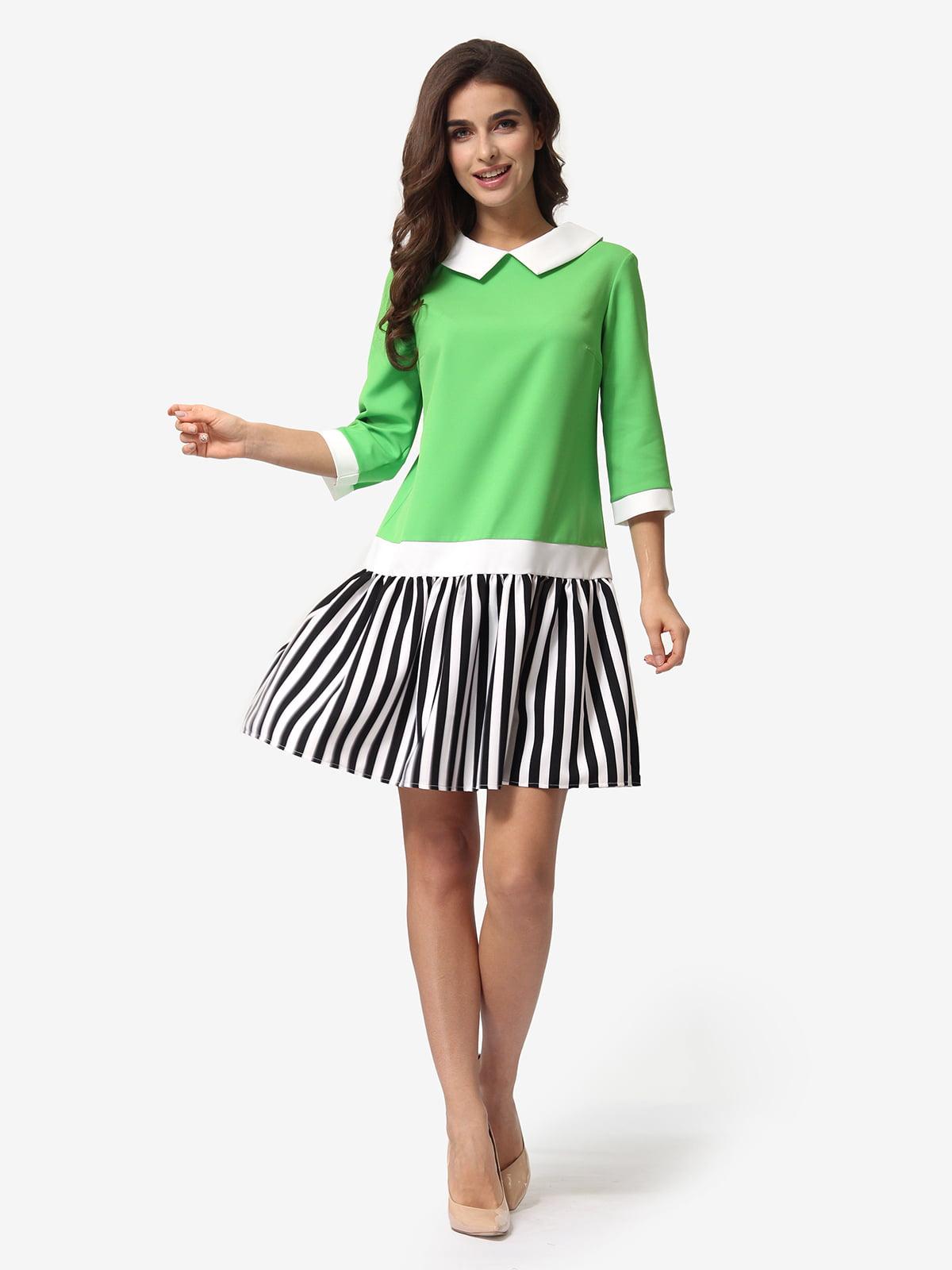Сукня триколірна в смужку | 5621367