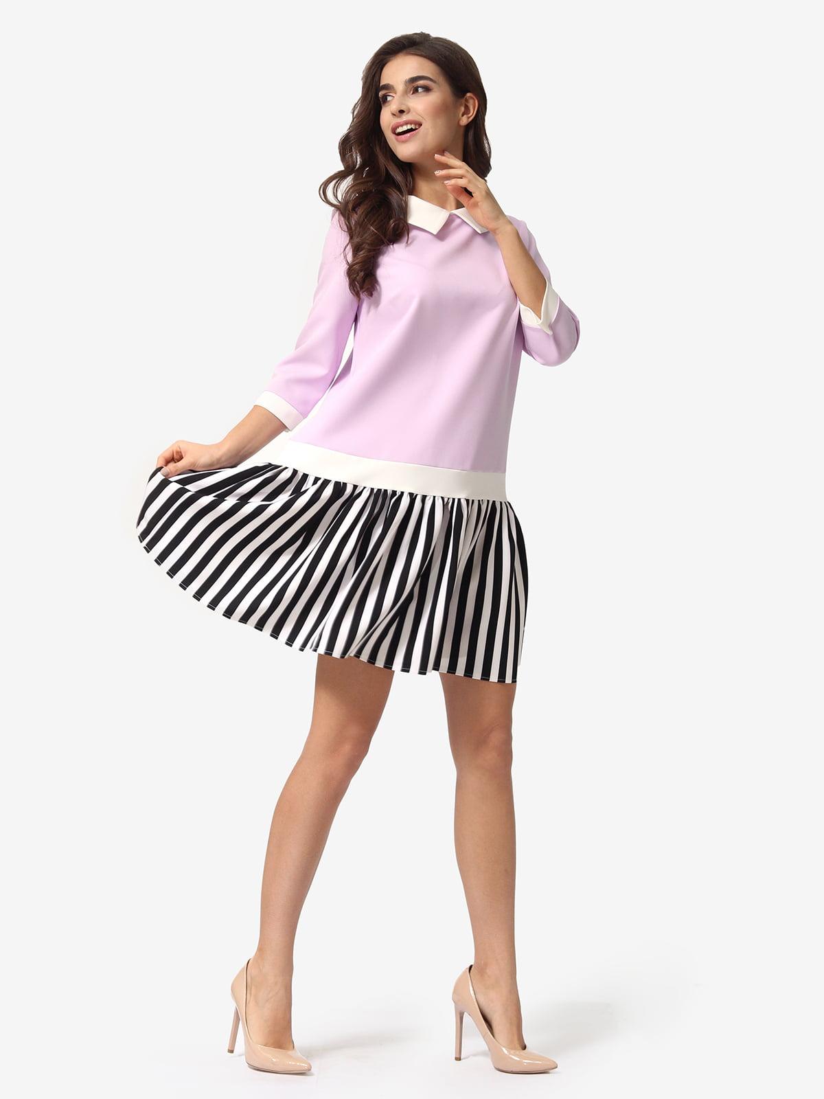 Платье трехцветное в полоску   5621370