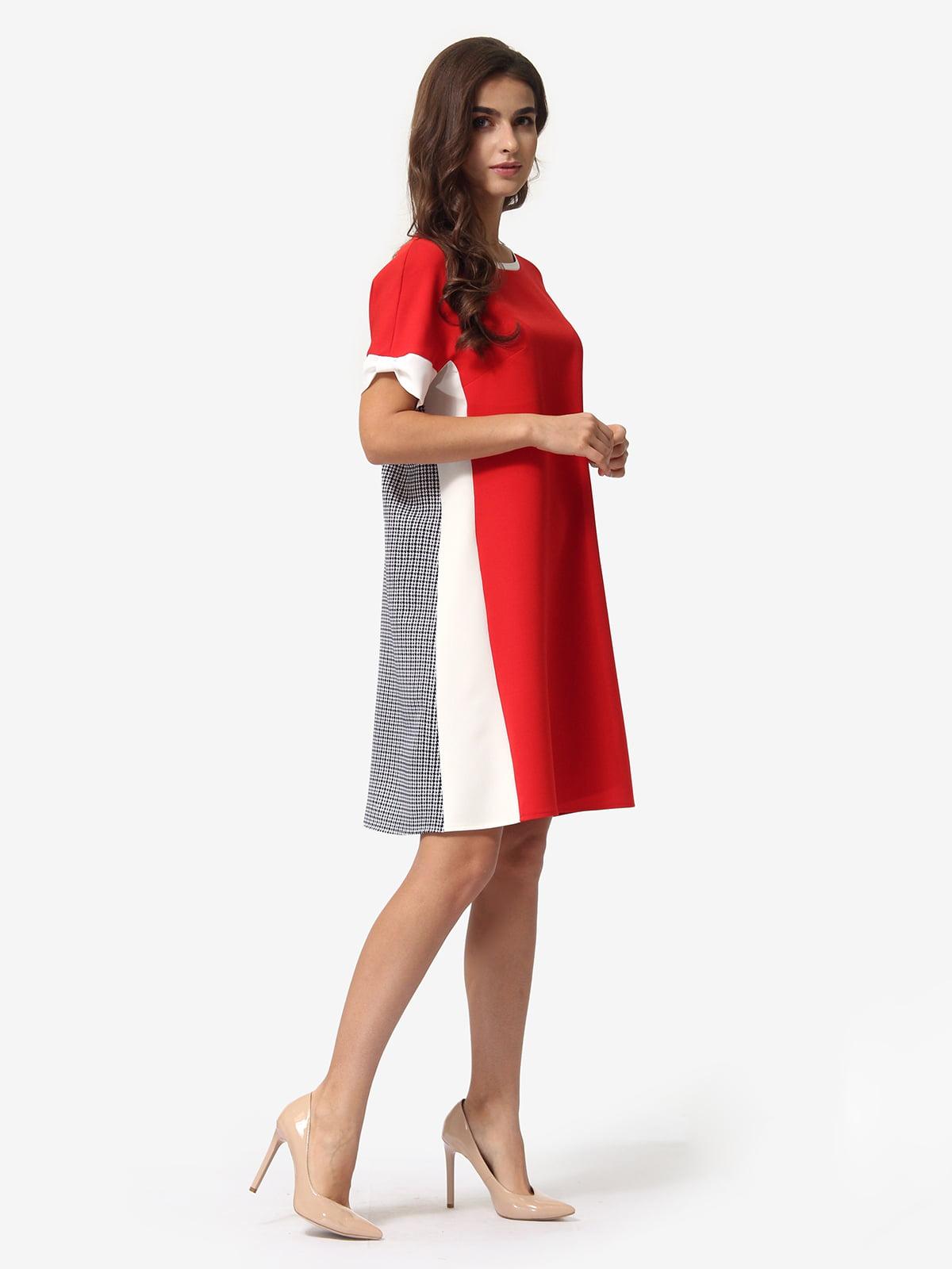 Платье трехцветное в клетку | 5621374