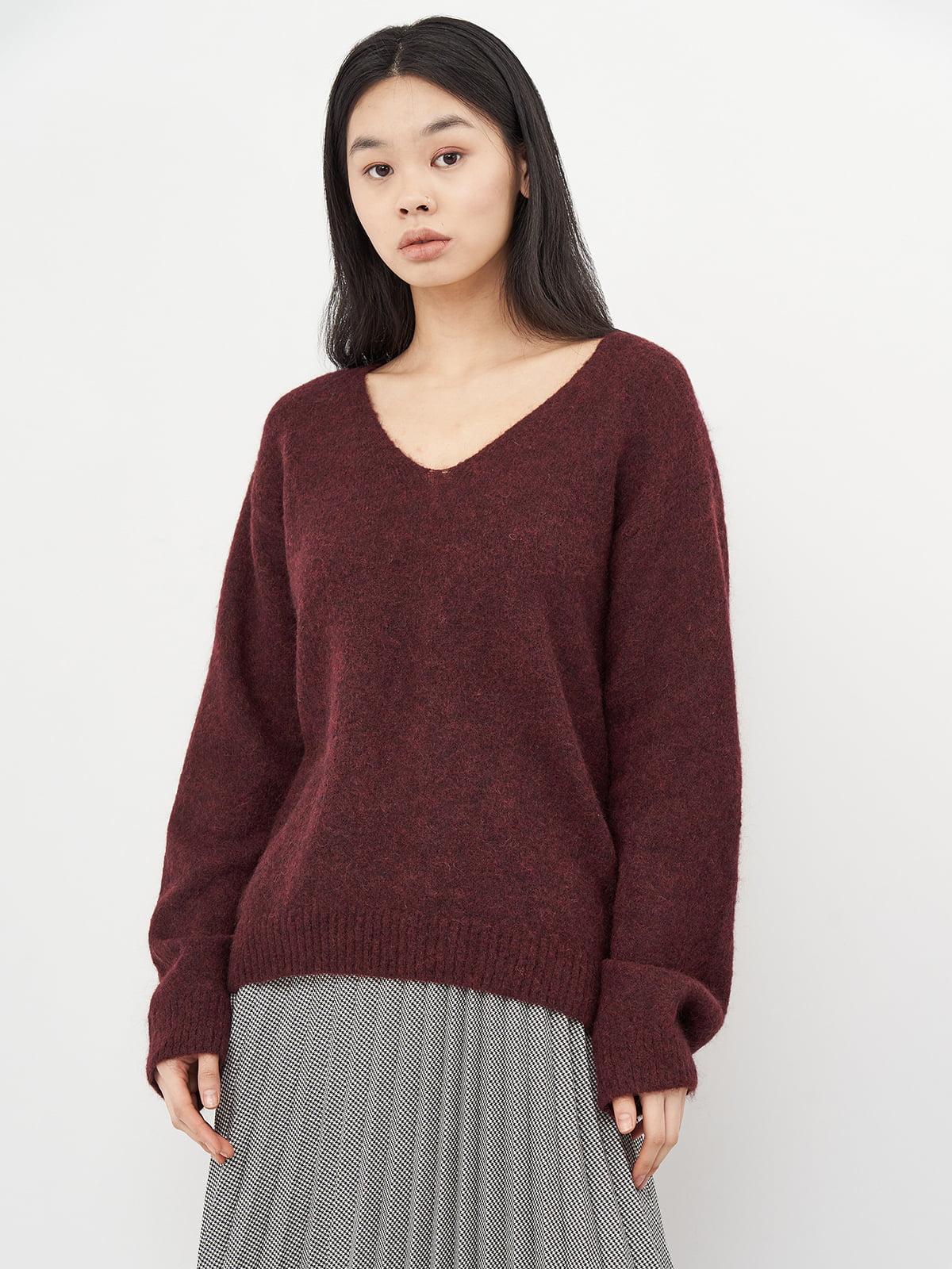 Пуловер бордовый | 5619488