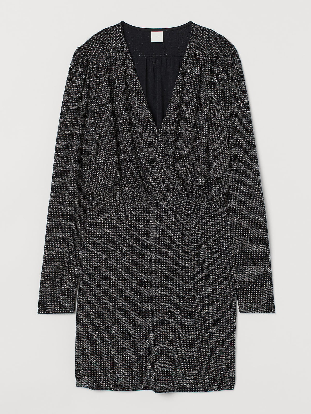 Платье черное с блеском | 5619565