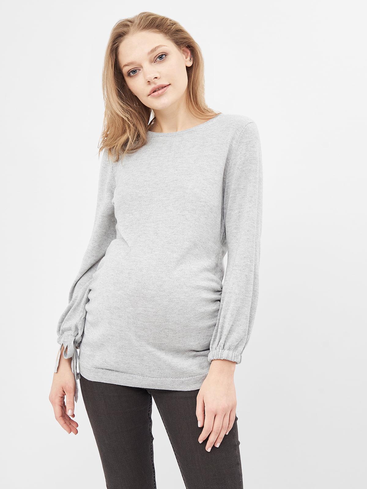 Джемпер для беременных серый | 5619674