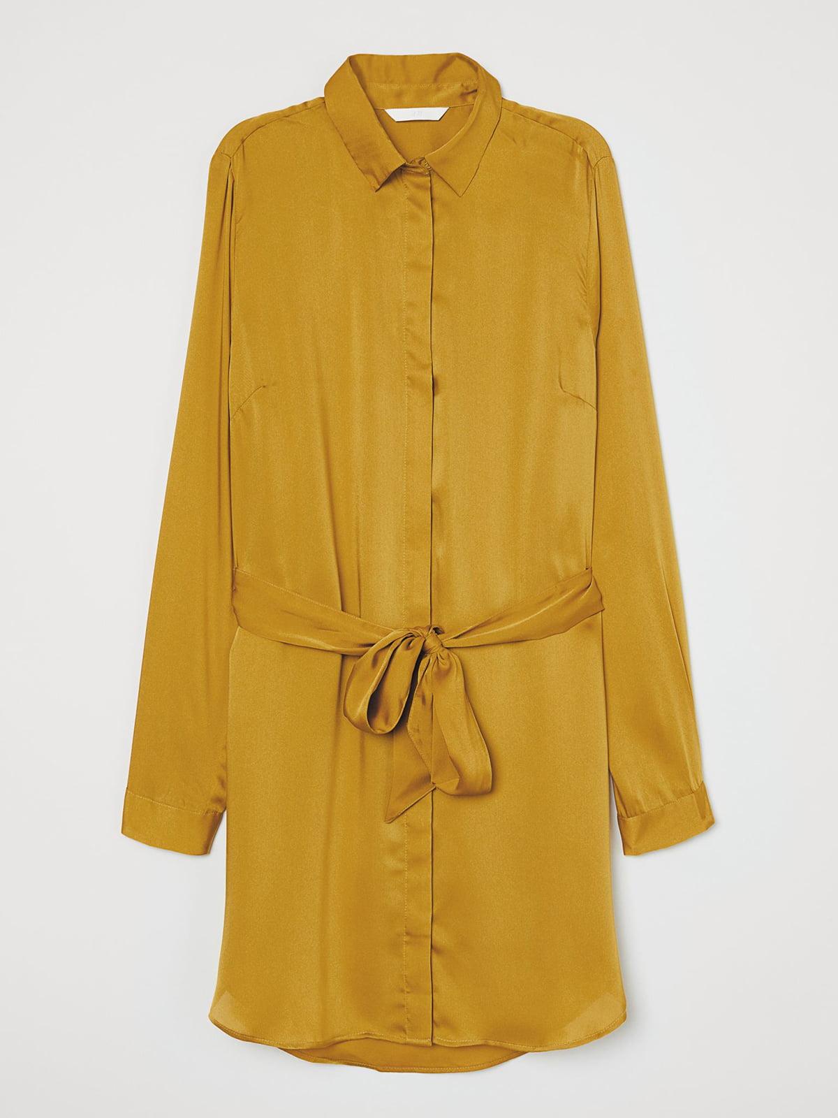 Рубашка горчичного цвета | 5623483