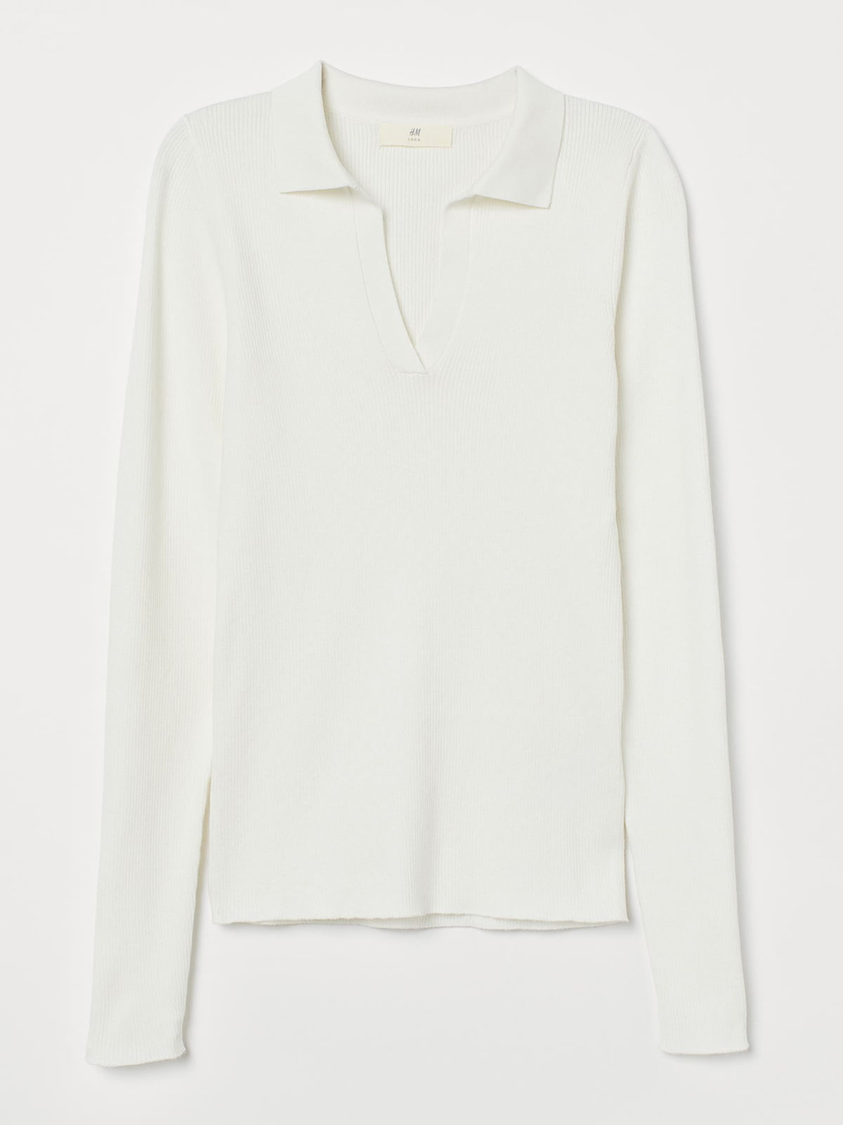Пуловер-поло белый | 5623528
