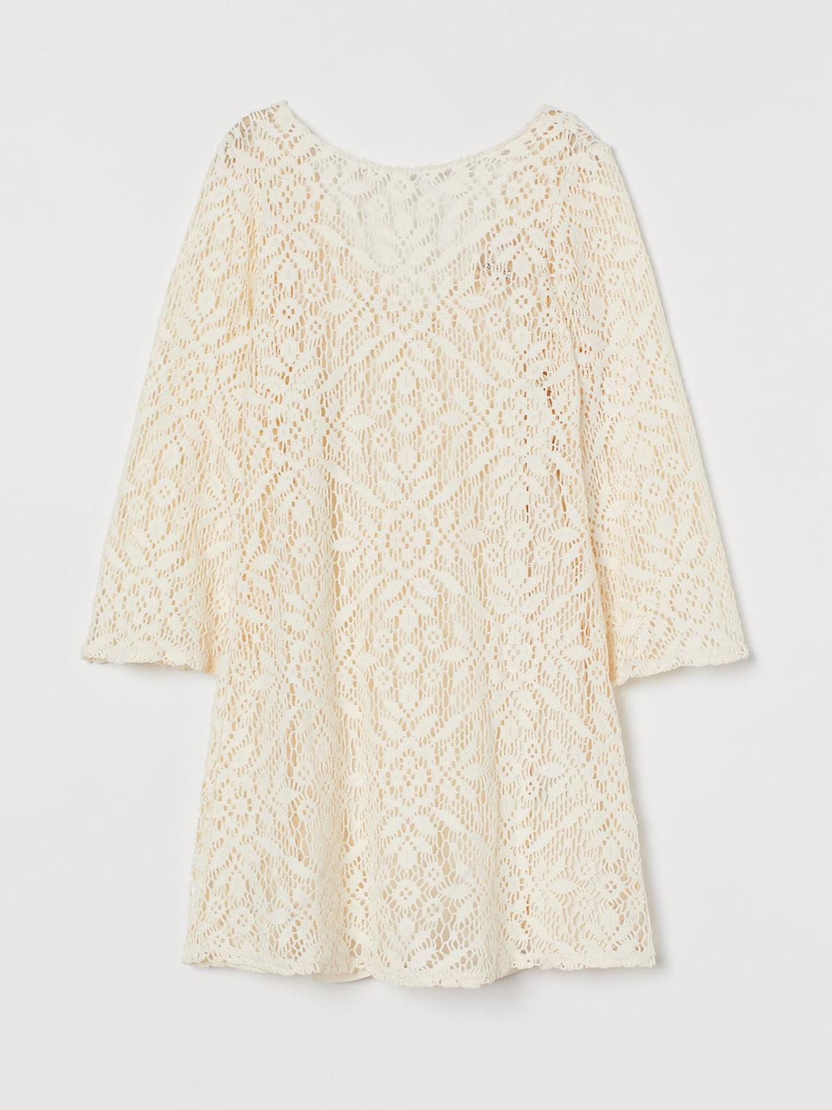 Платье белое с цветочным узором | 5623565