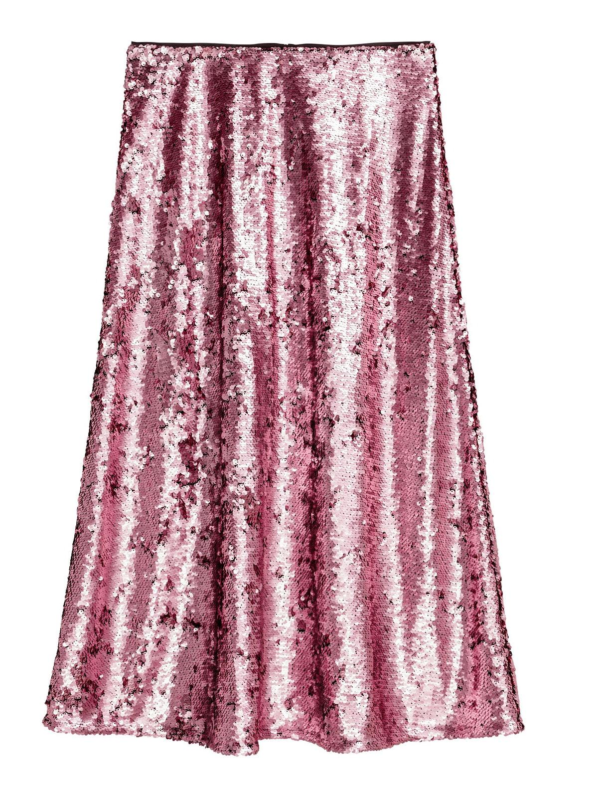 Юбка розового цвета с декором   5623594