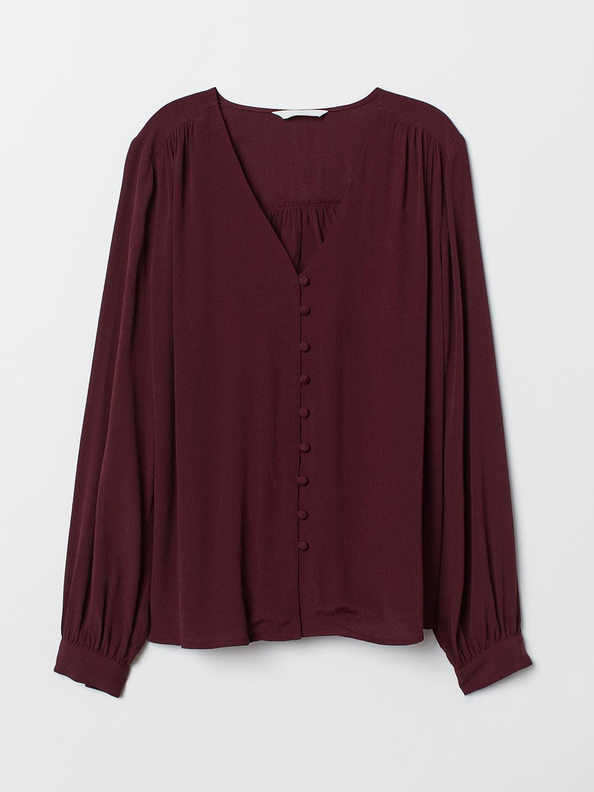 Рубашка бордовая | 5623812