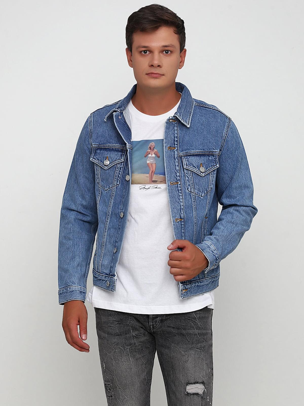 Куртка джинсовая голубого цвета | 5623954