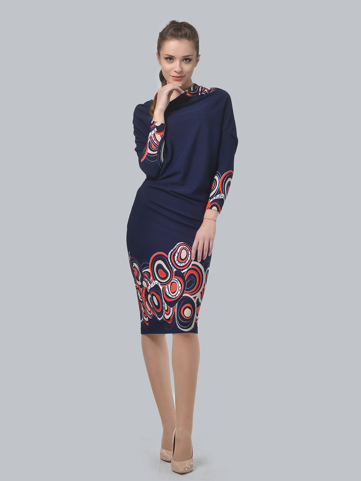 Сукня синя в принт   5620843