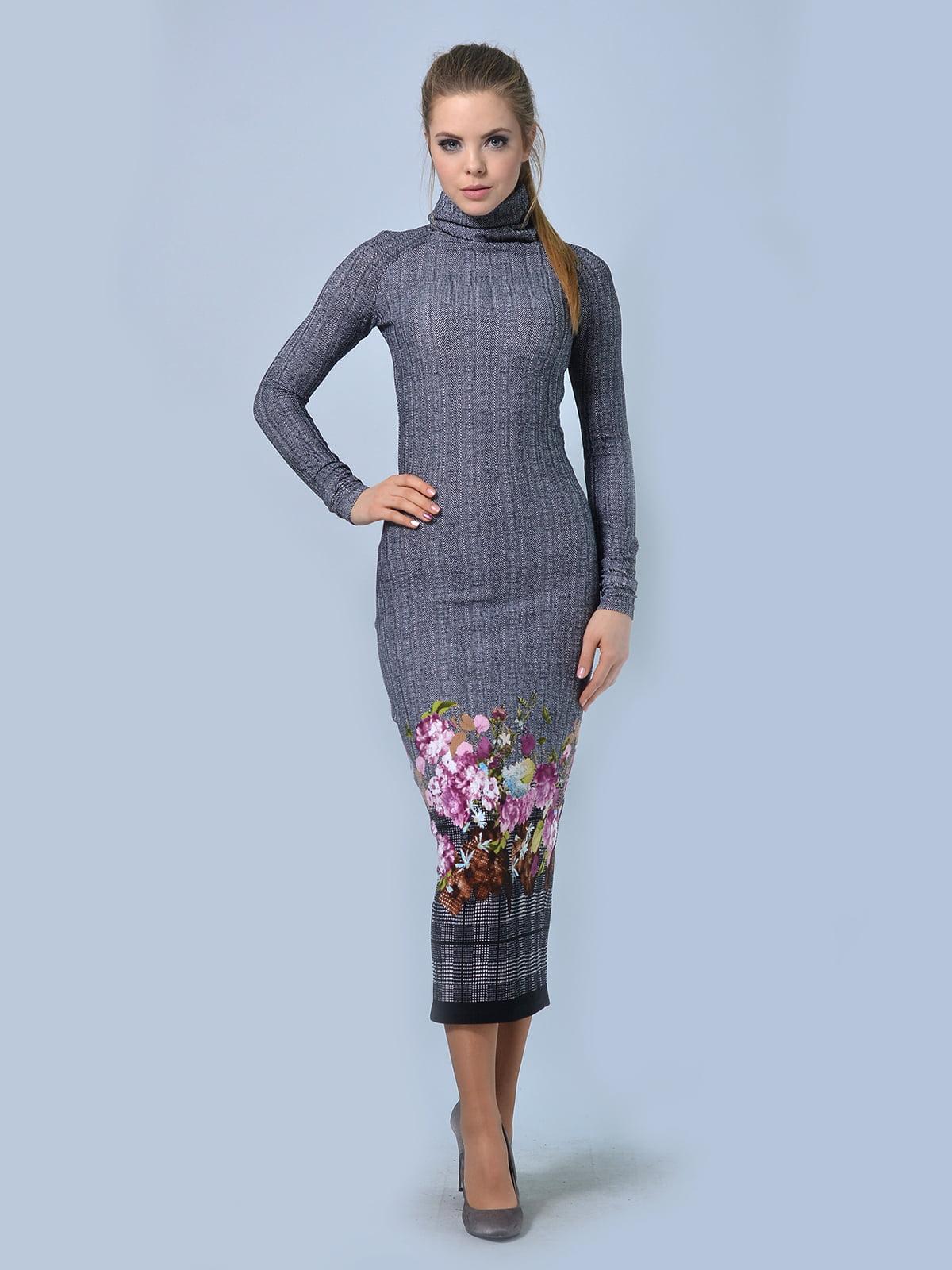 Сукня бузкова квітковий принт   5620856