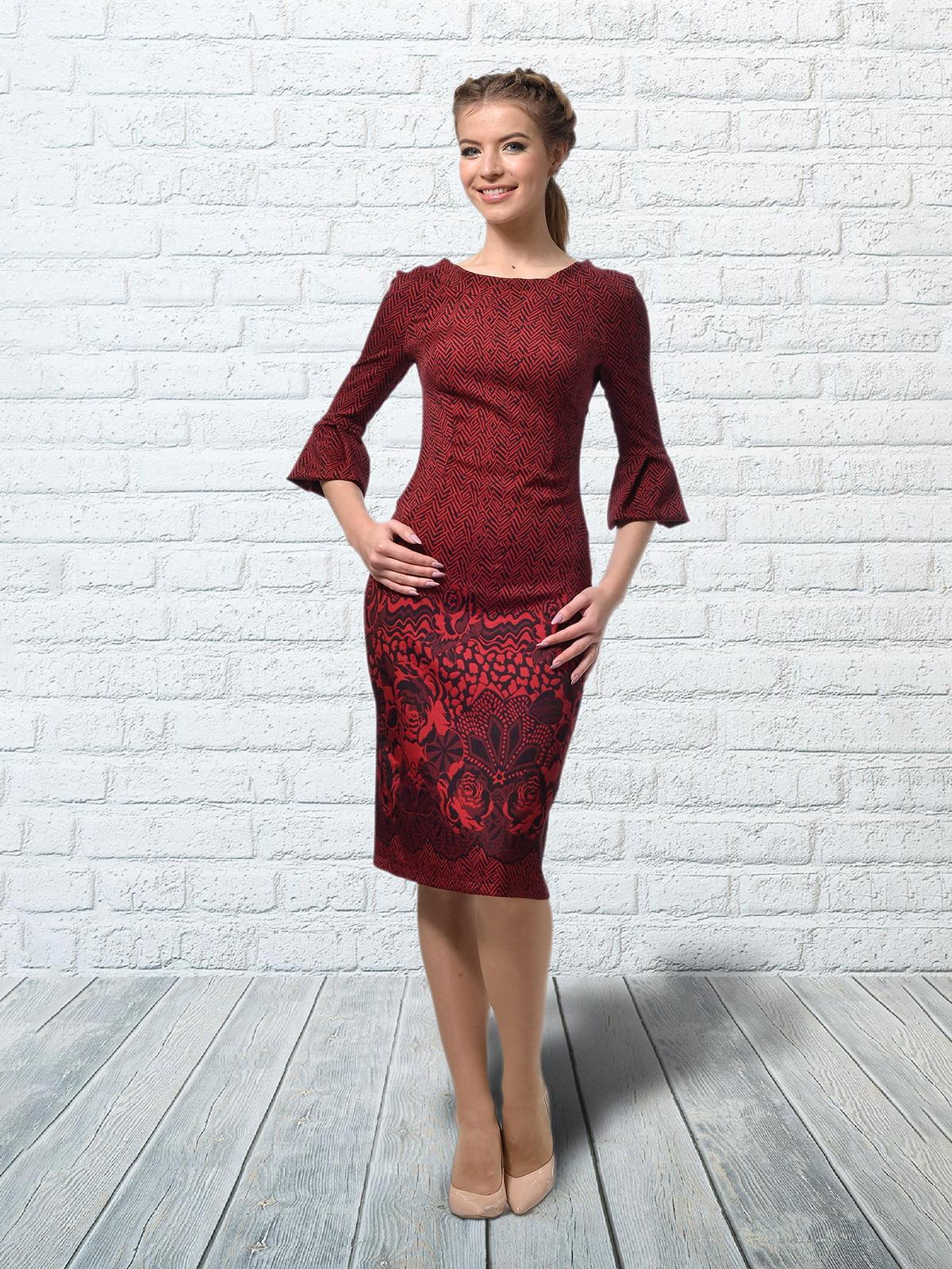 Сукня бордова в квітковий принт   5620877