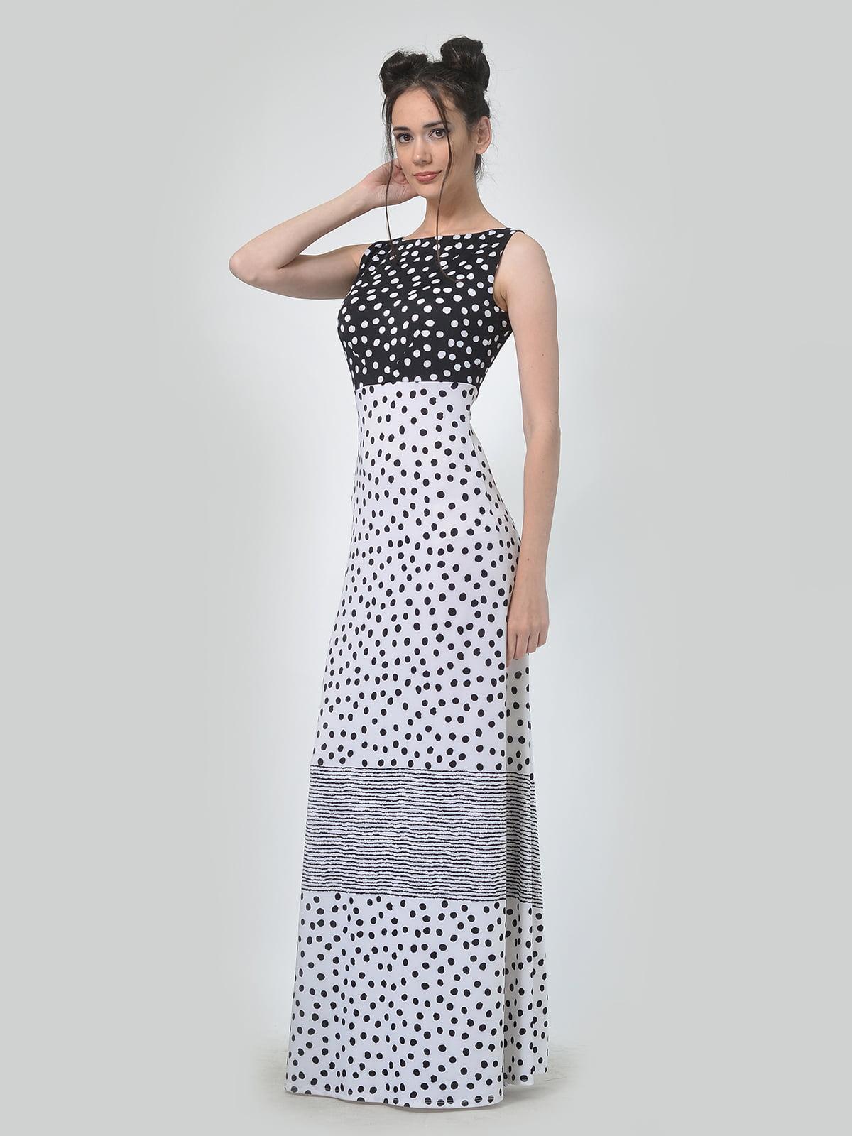Сукня двокольорова в горошок і в смужку | 5621288