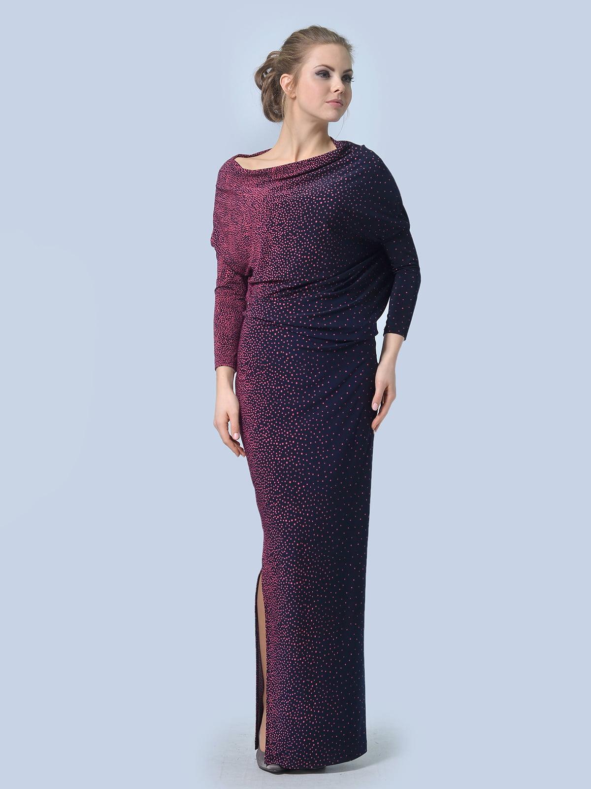 Сукня фіолетова в дрібний горошок | 5620841