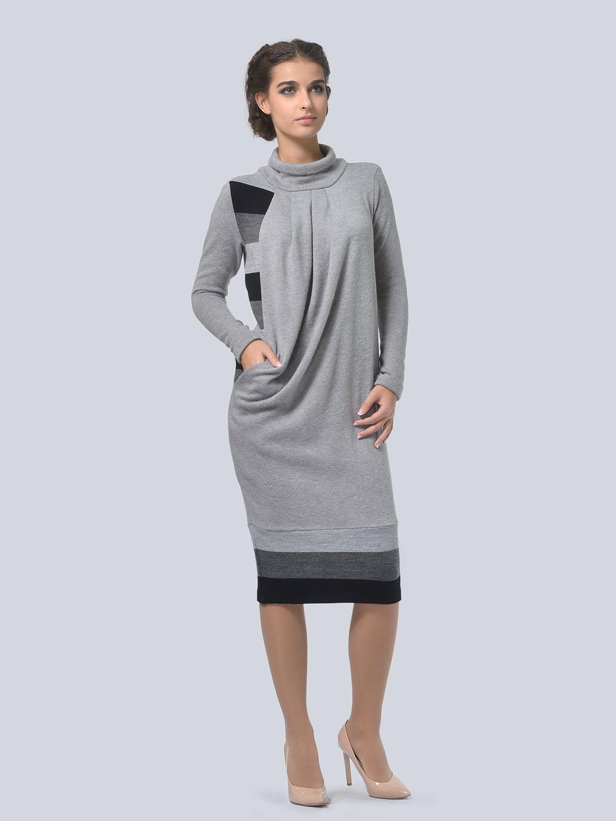 Сукня сіра в смужку   5620890