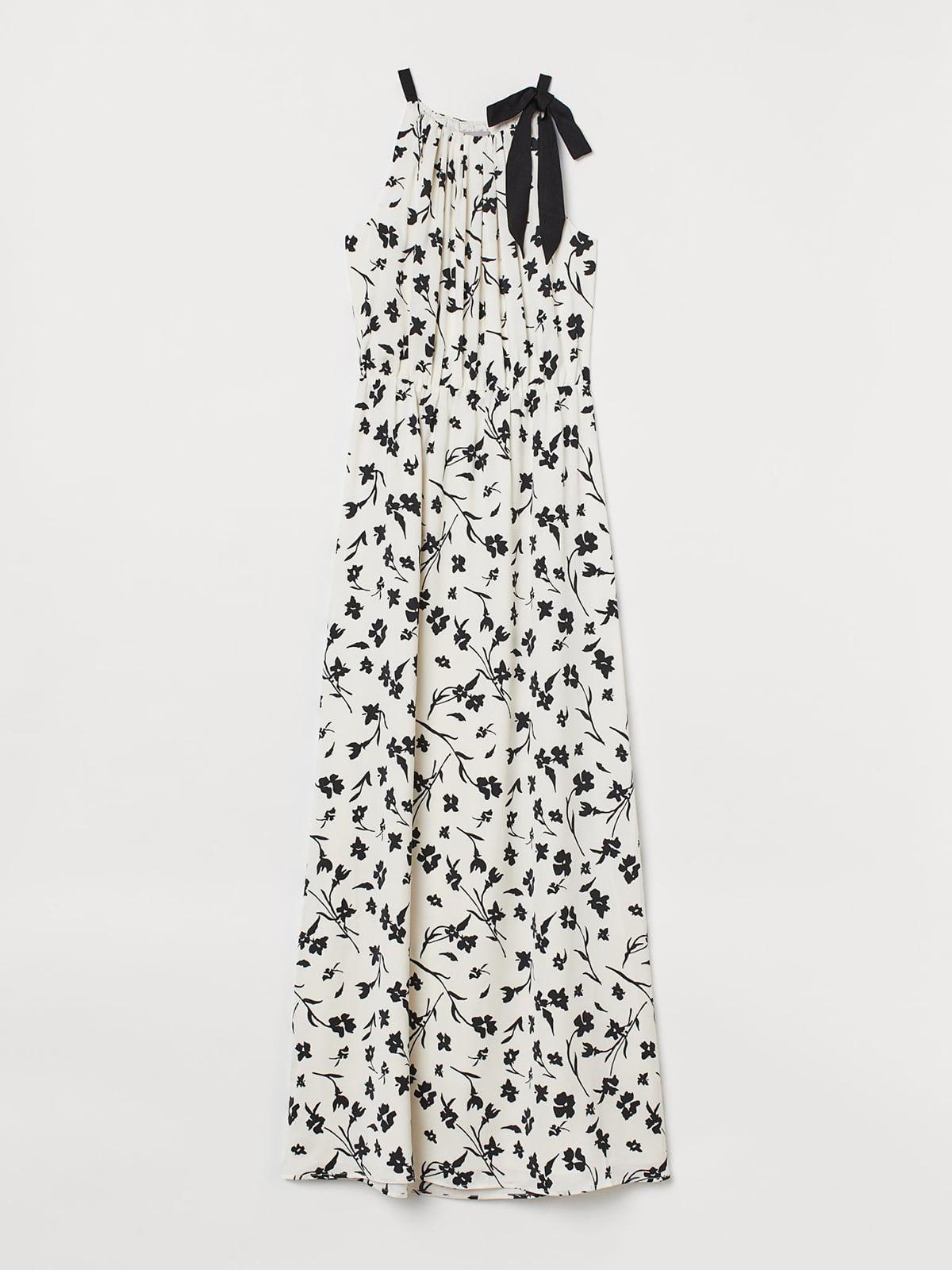 Сукня молочного кольору з квітковим принтом   5624574