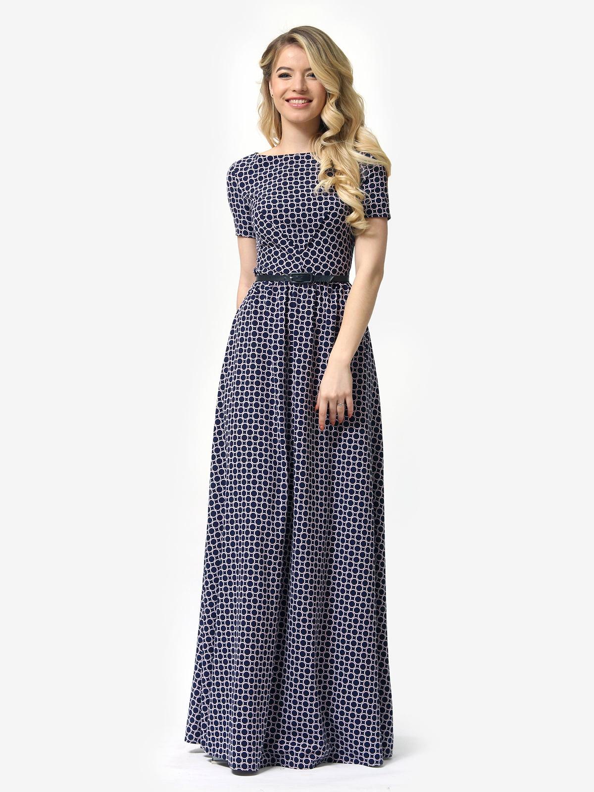 Сукня синя в принт | 5621023