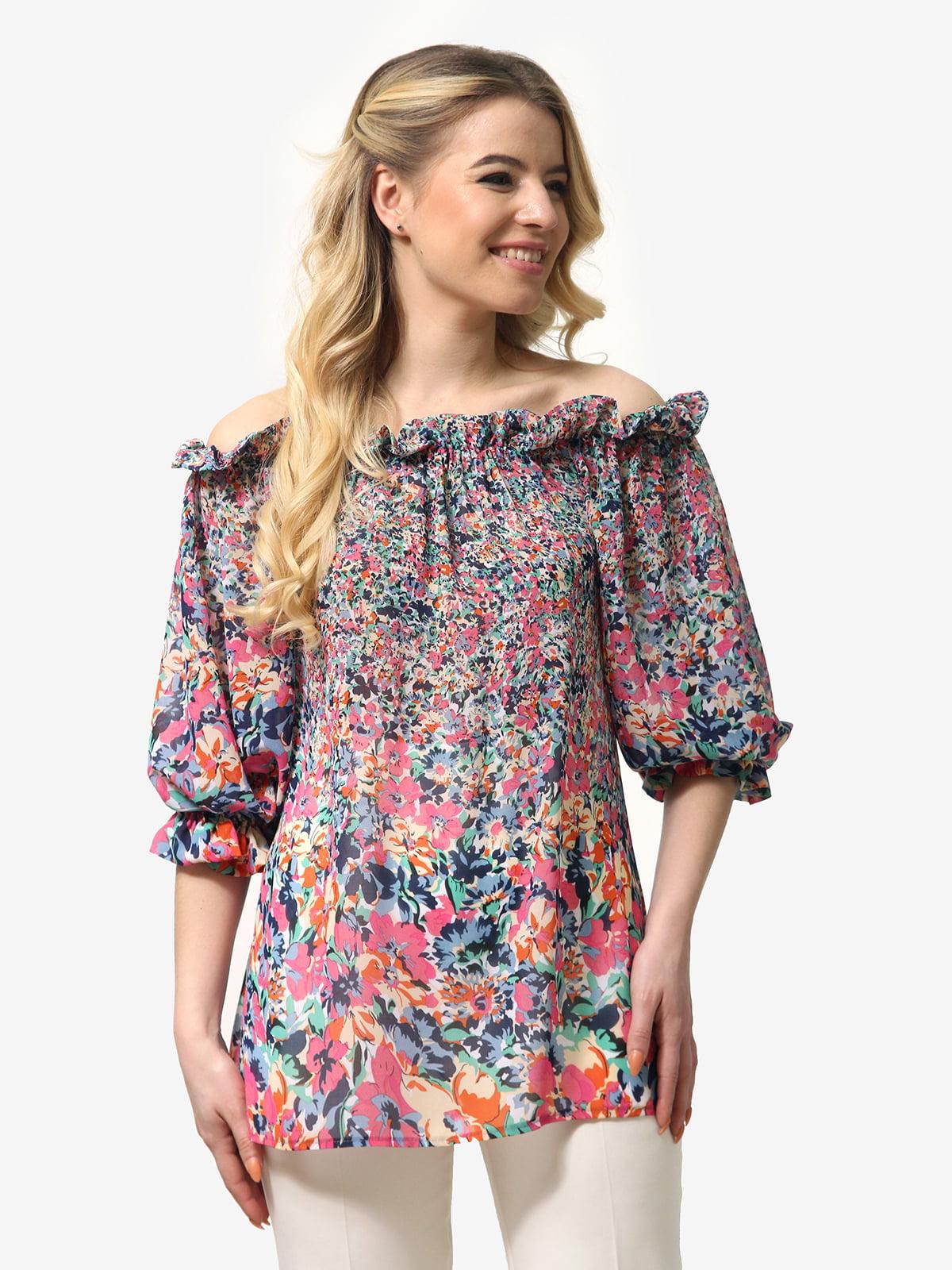 Блуза в квітковий принт | 5621073