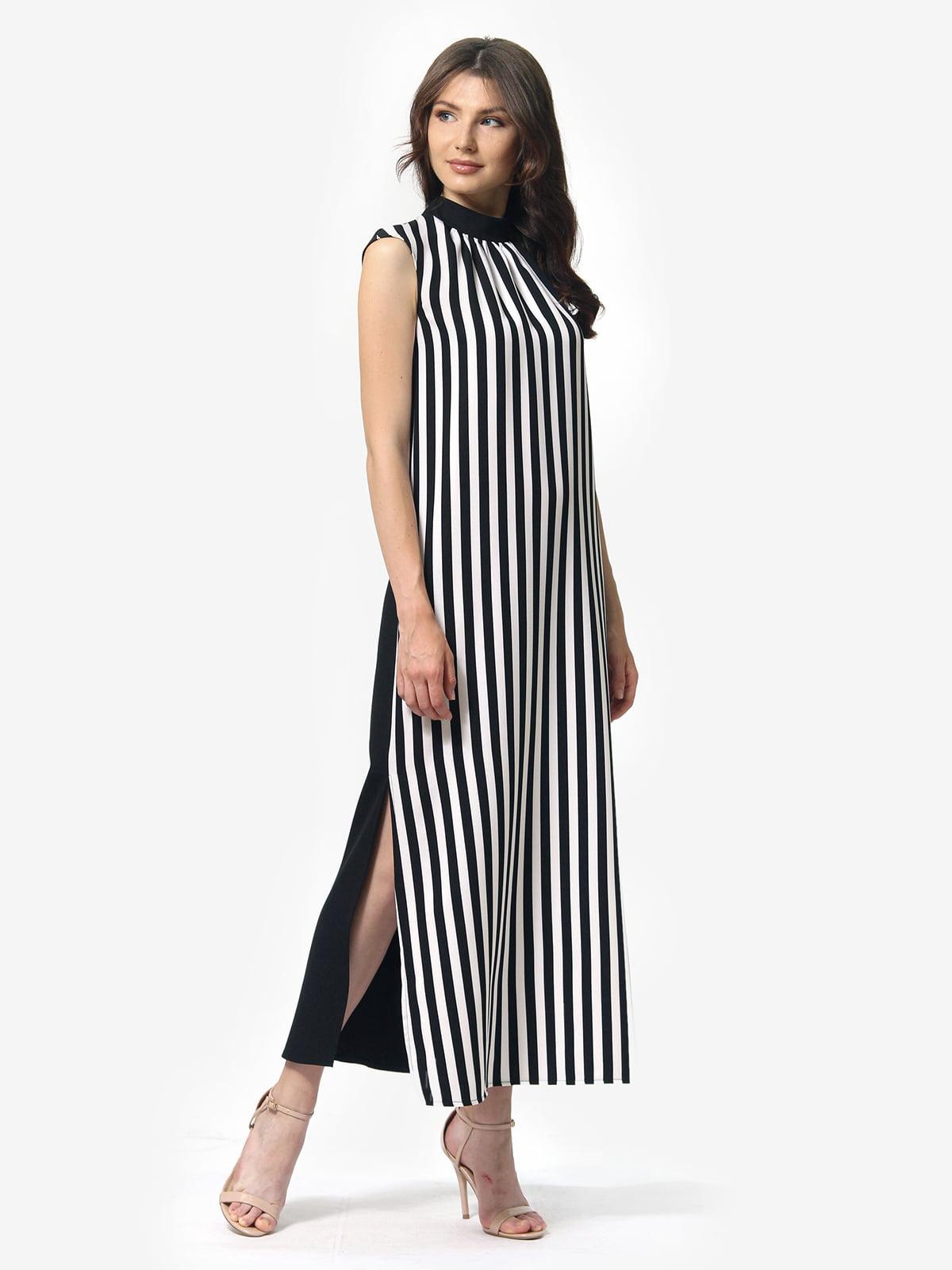 Сукня чорно-біла в смужку | 5621196