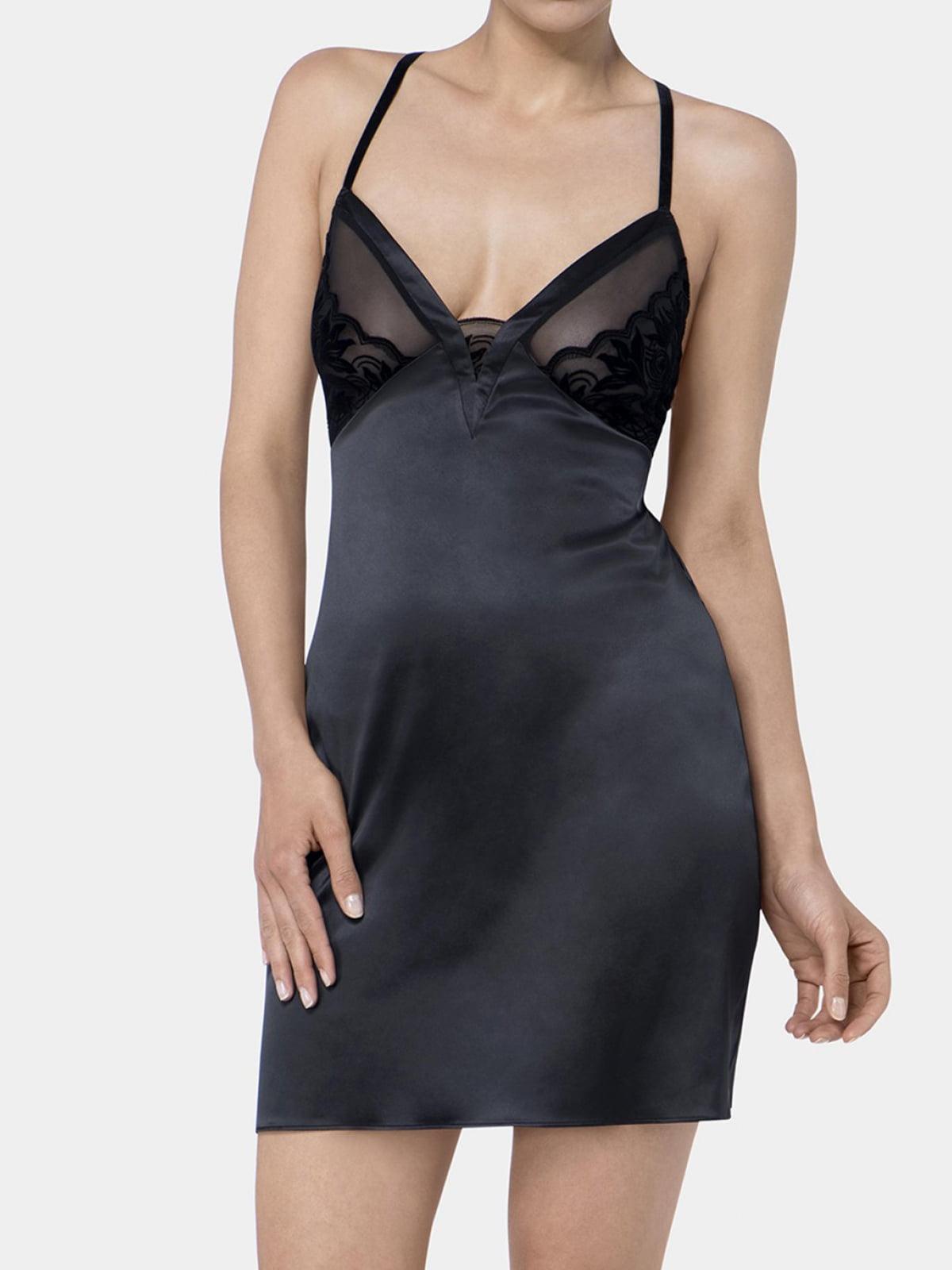 Рубашка ночная черная | 5625597