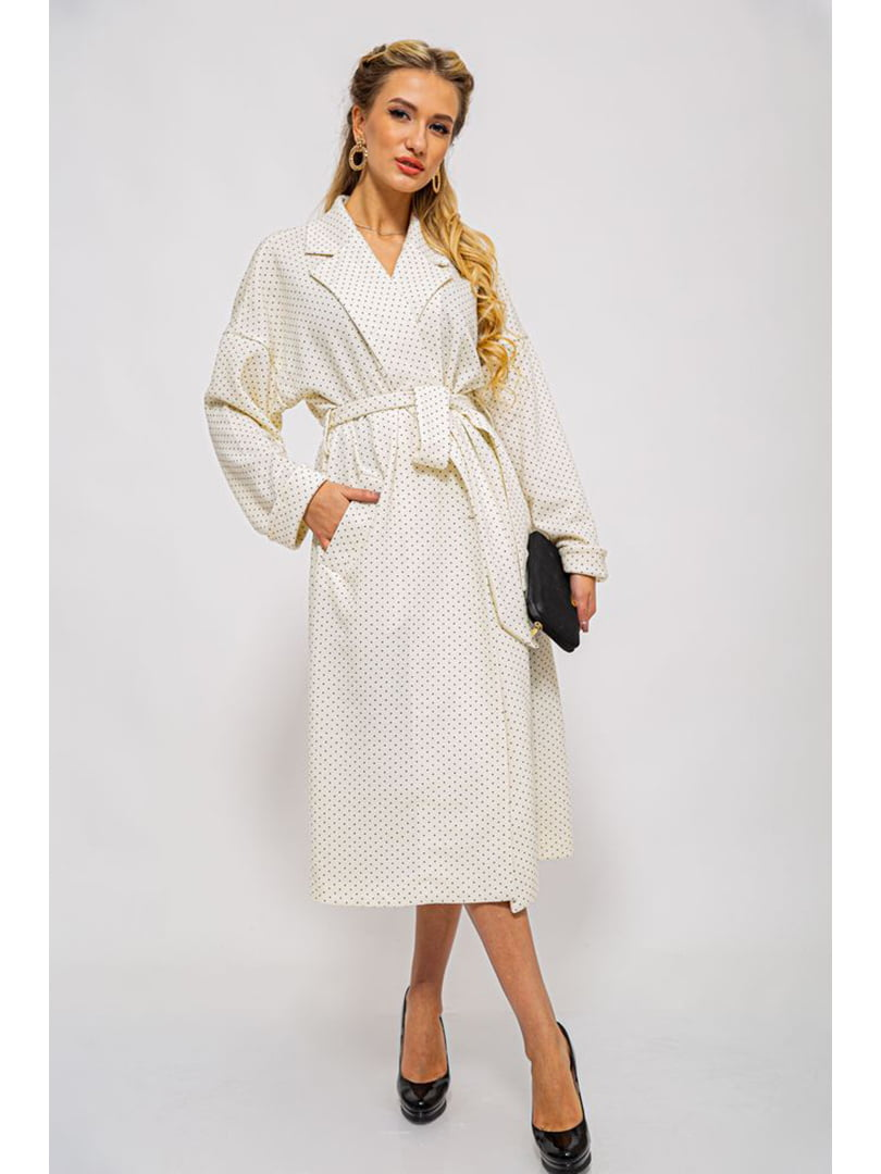 Пальто молочного цвета в крапинку | 5625030