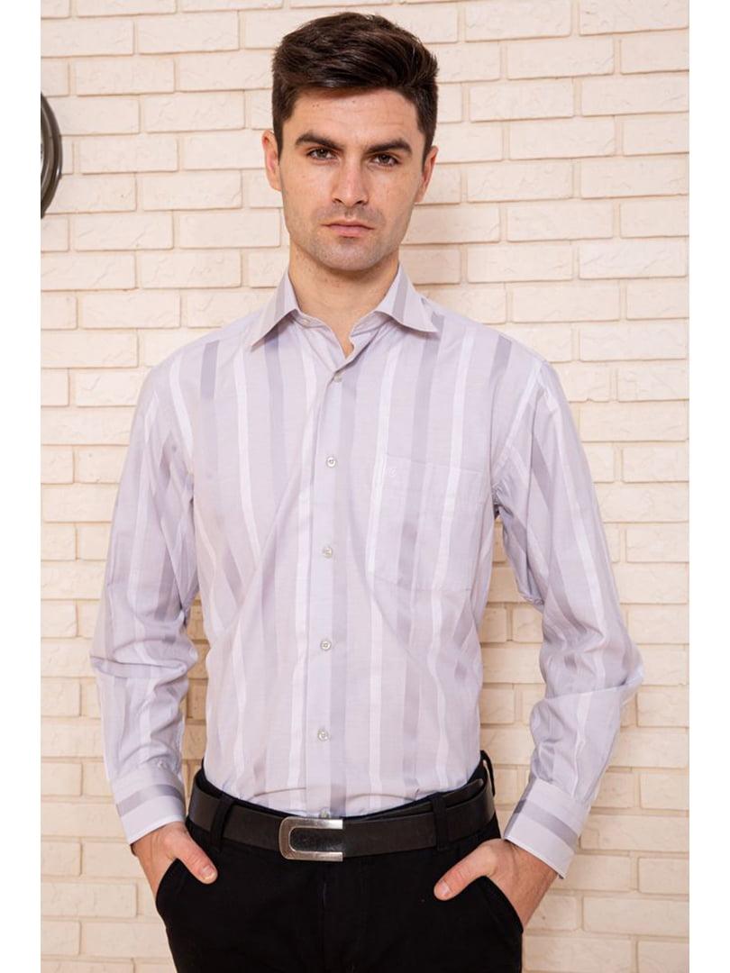 Рубашка серая в полоску | 5625133