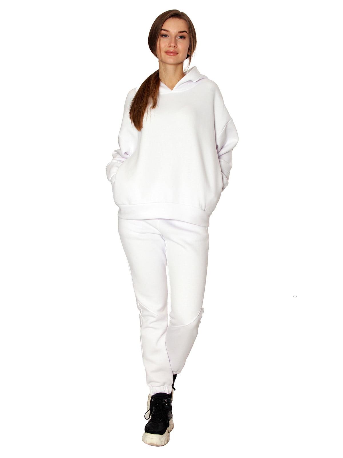 Штани білі з начосом | 5625833