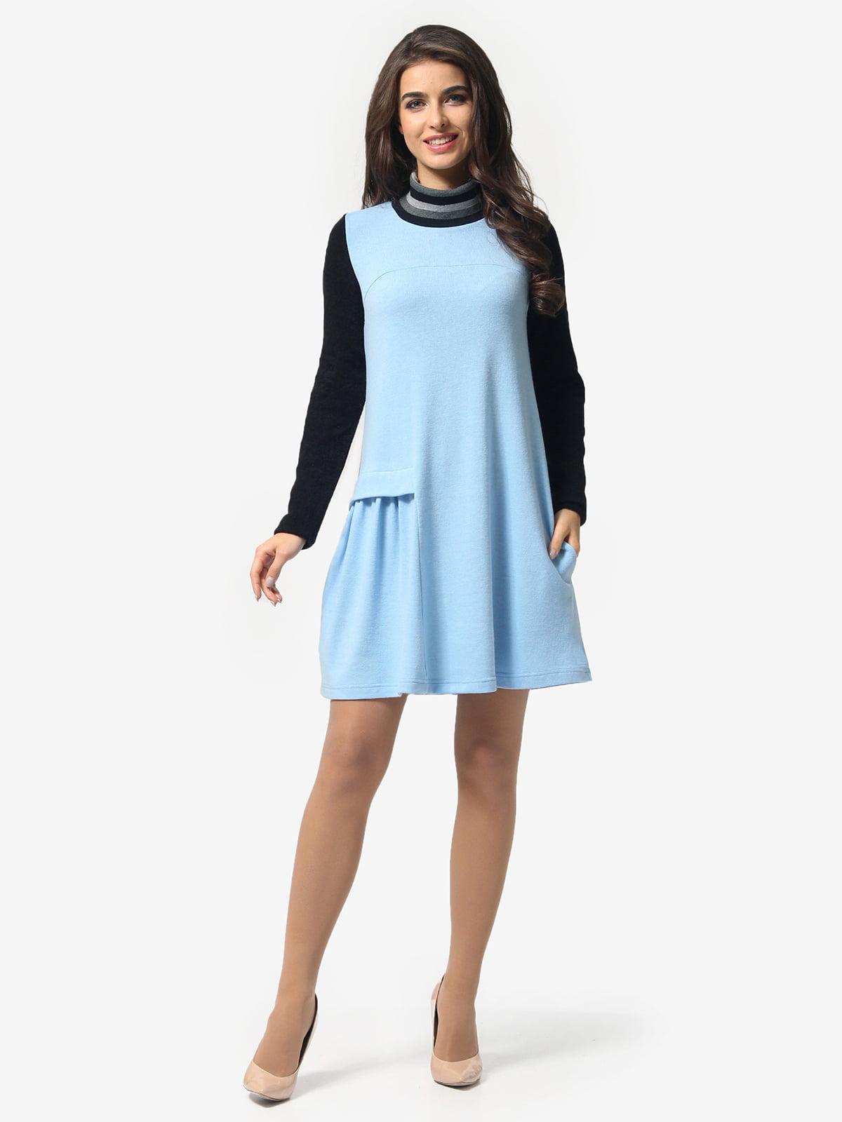 Сукня чорно-блакитна | 5626001