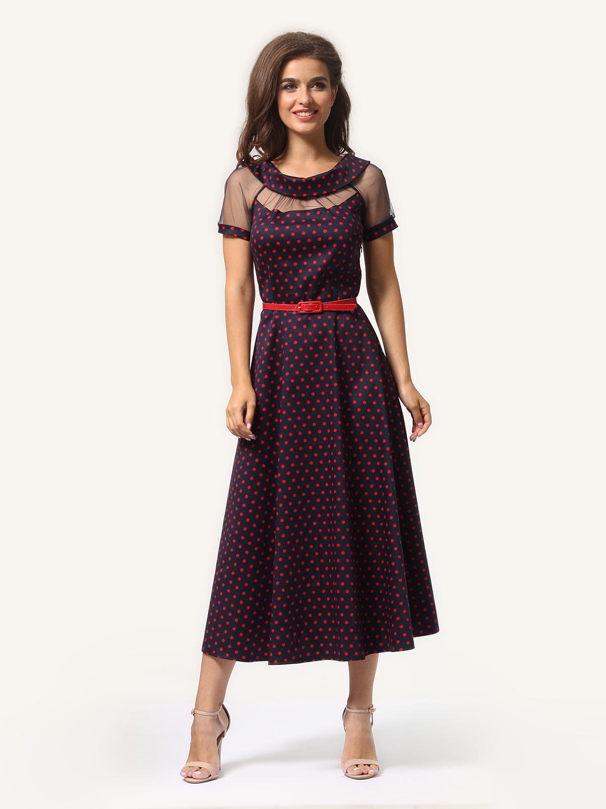 Сукня синя в горох | 5626044