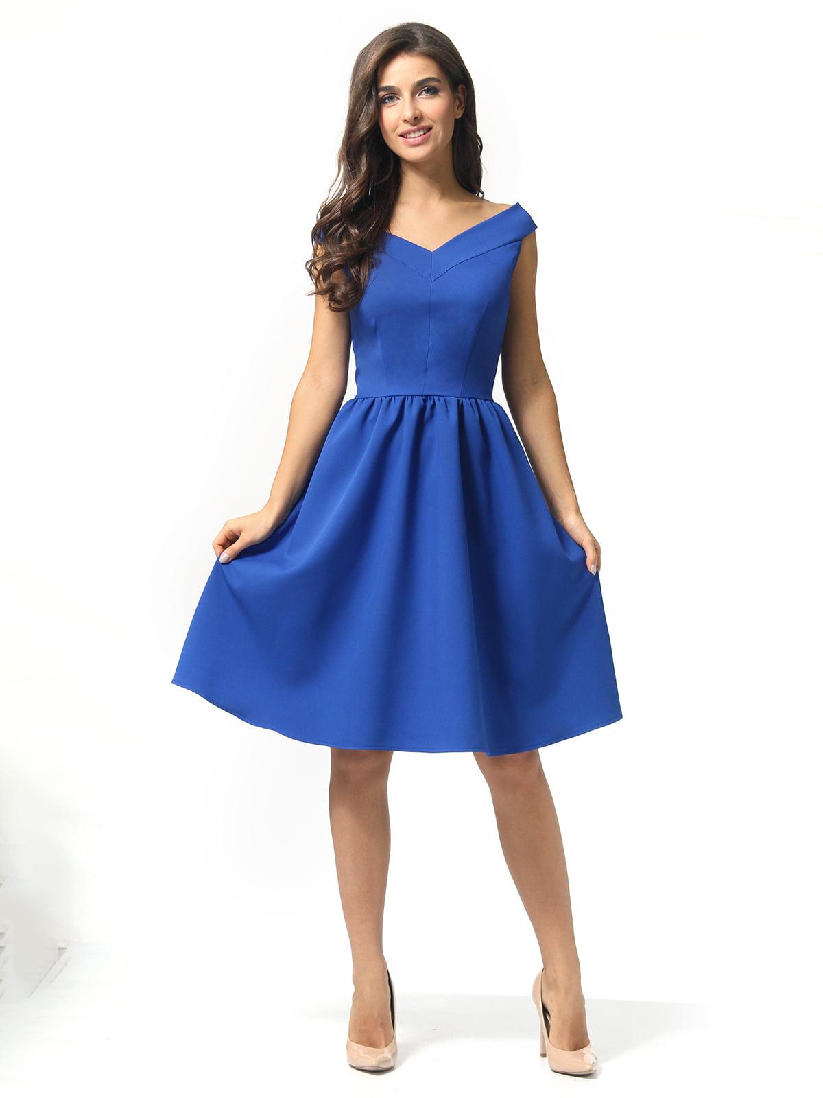 Сукня кольору електрик | 5626078