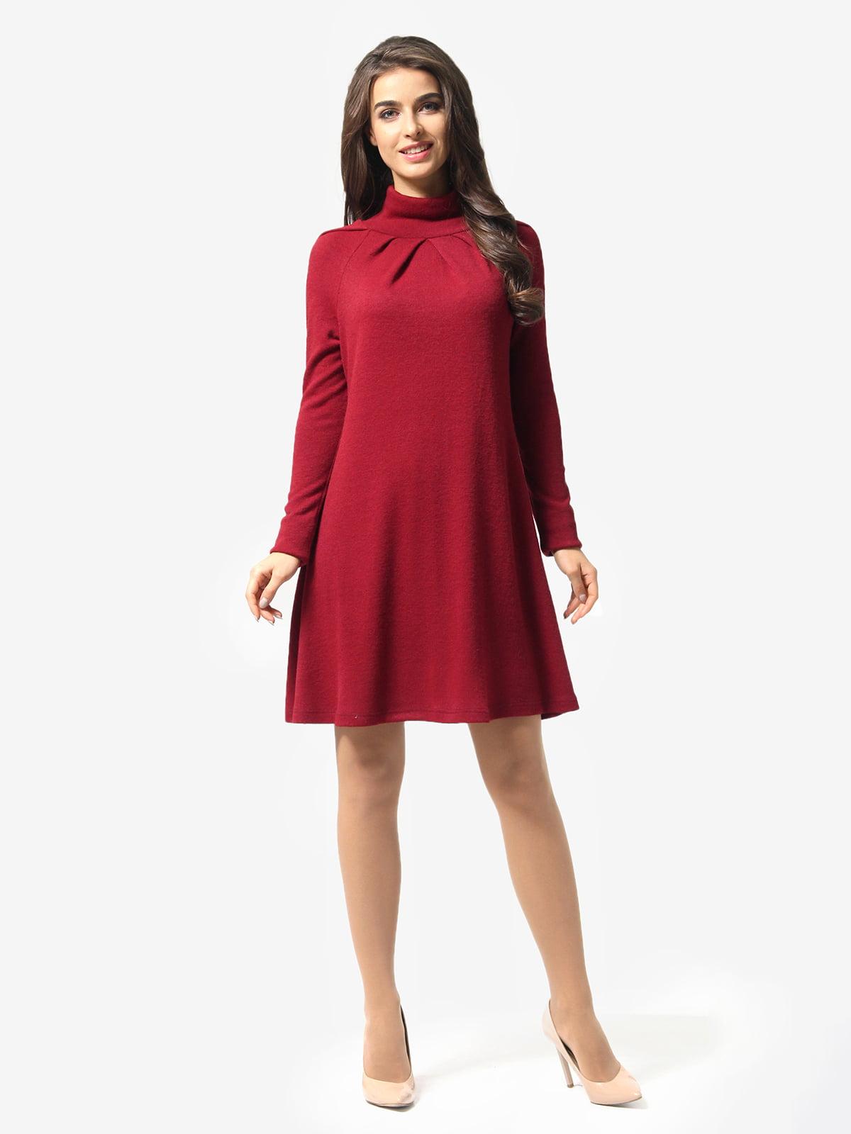 Платье бордовое | 5626113