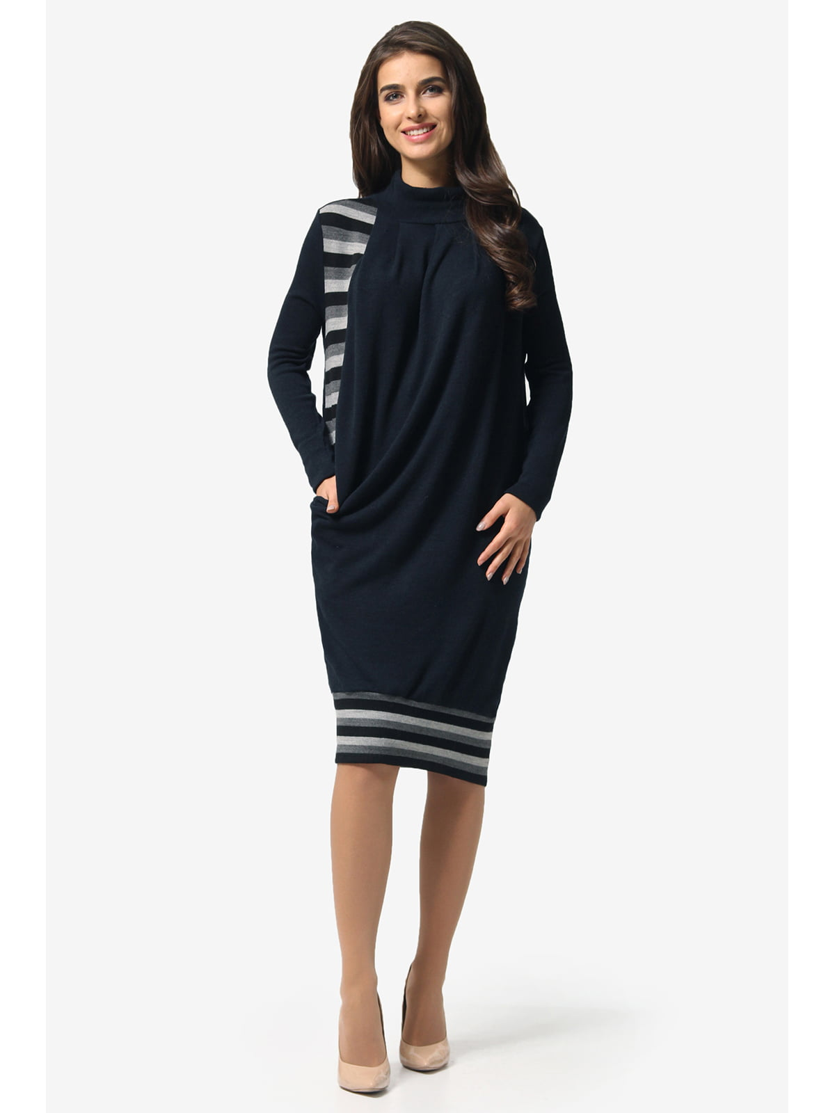 Сукня темно-синя в смужку   5626908