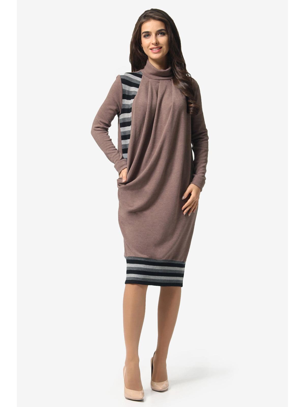 Сукня кавового кольору в смужку | 5626910