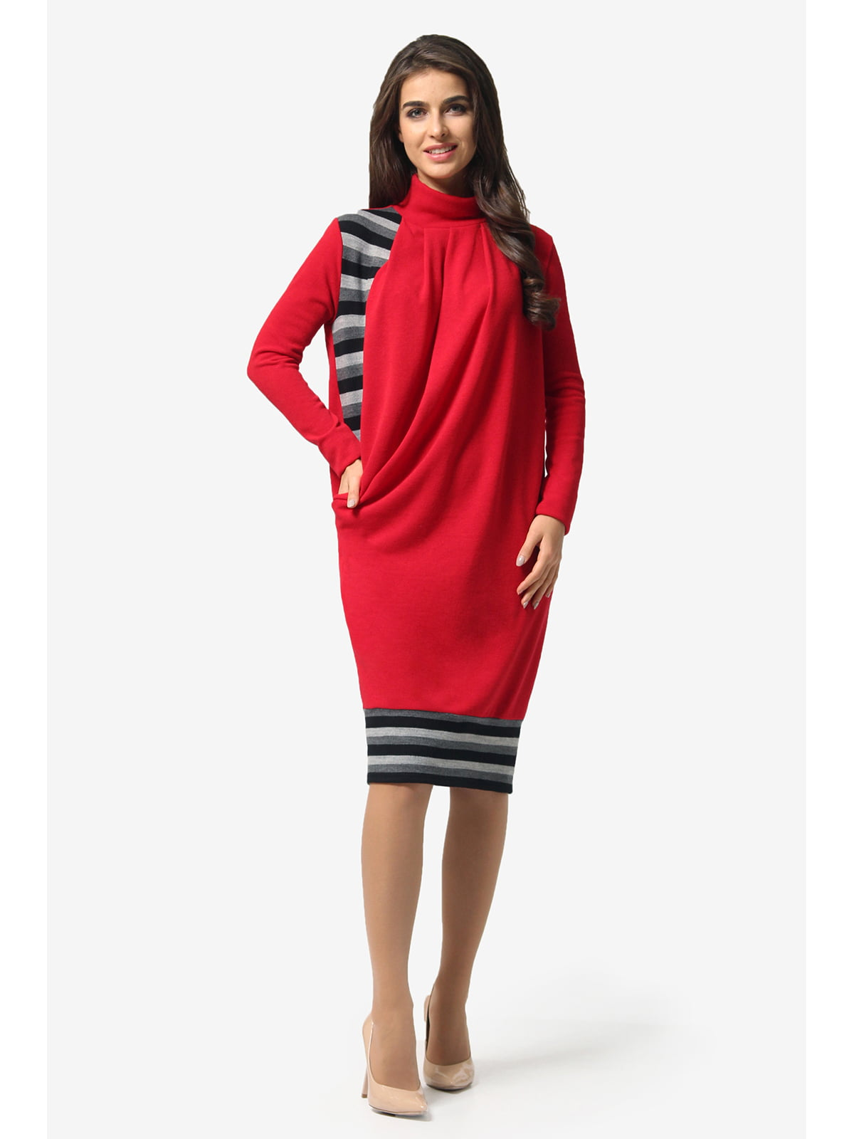 Сукня червона в смужку | 5626912